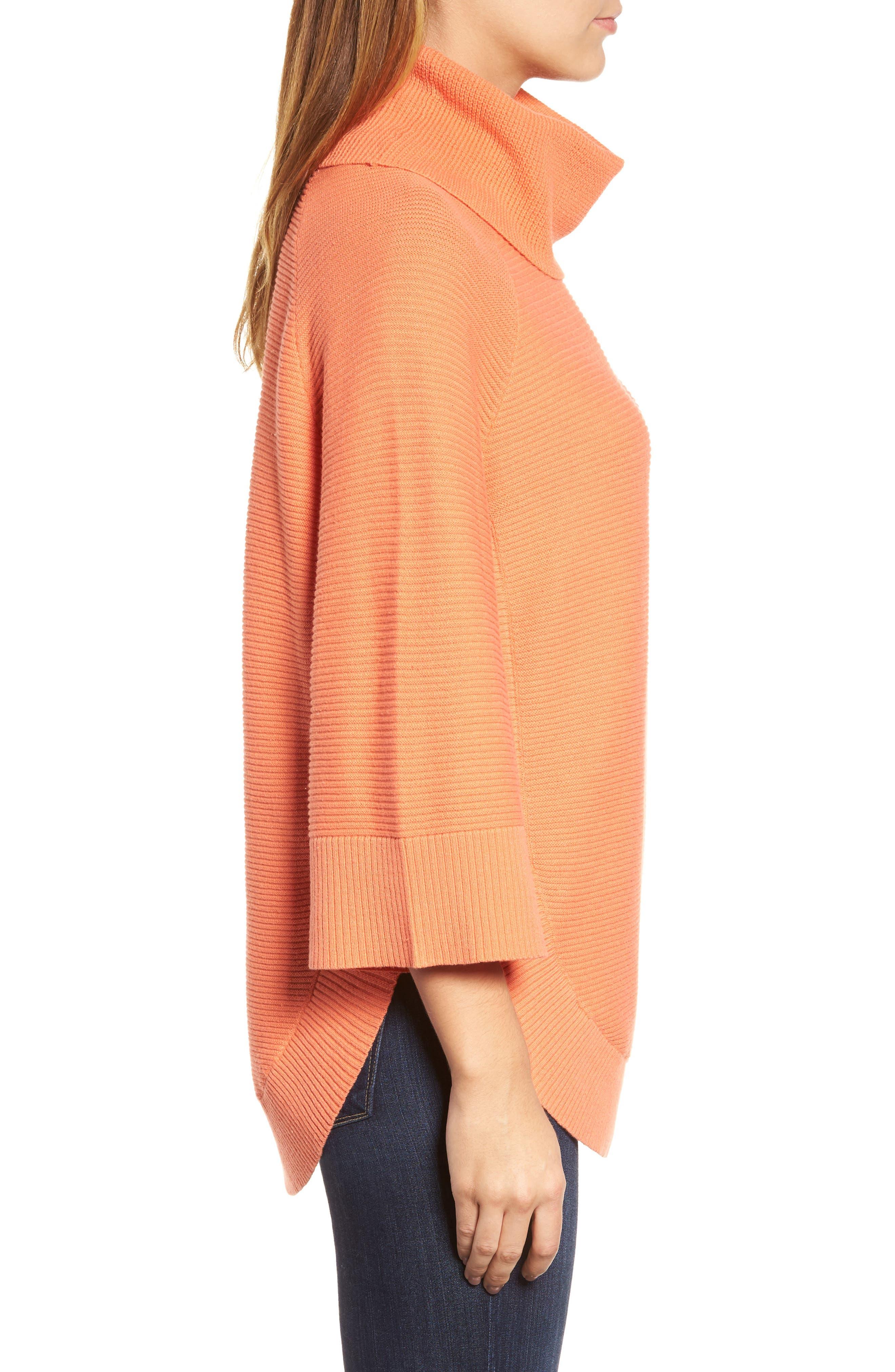 Alternate Image 3  - Chaus Cowl Neck Shirttail Hem Sweater