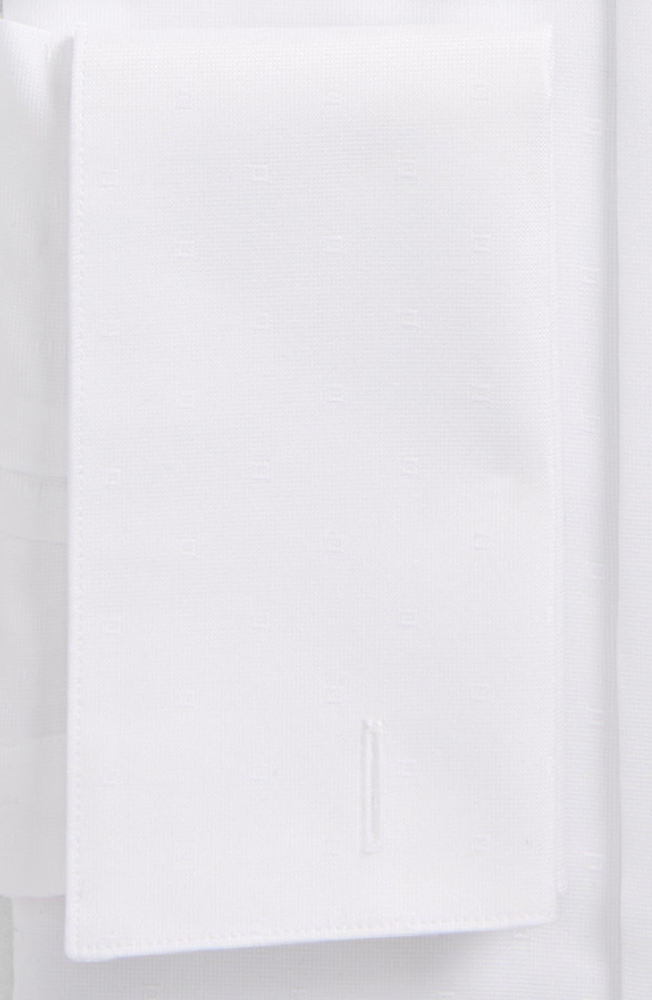 Trim Fit Tuxedo Shirt,                             Alternate thumbnail 2, color,                             White