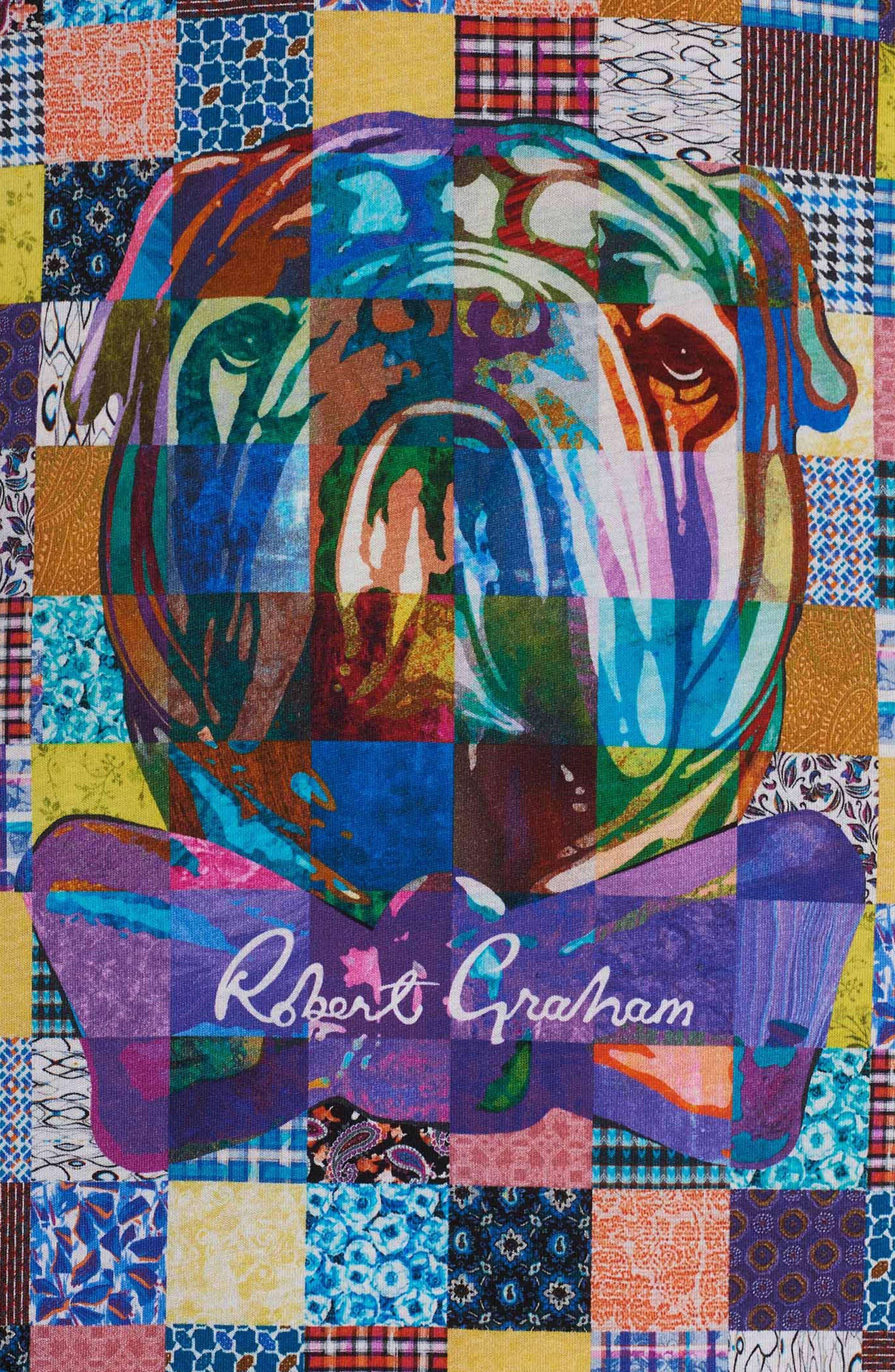 Alternate Image 3  - Robert Graham Bow Tie Bulldog Graphic T-Shirt