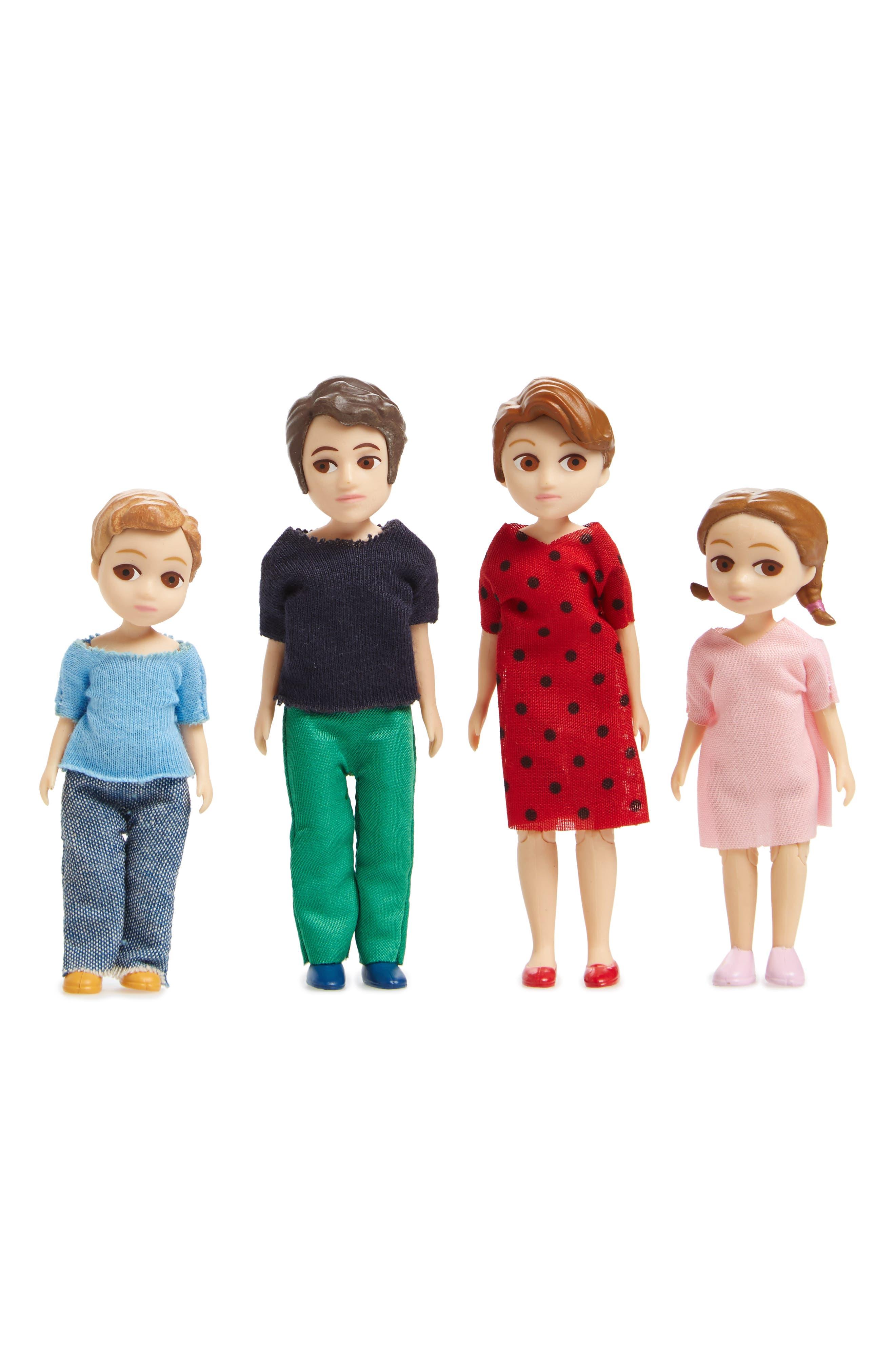 MoMA Design Store Thomas & Marion Family Set of 4 Dollhouse Dolls