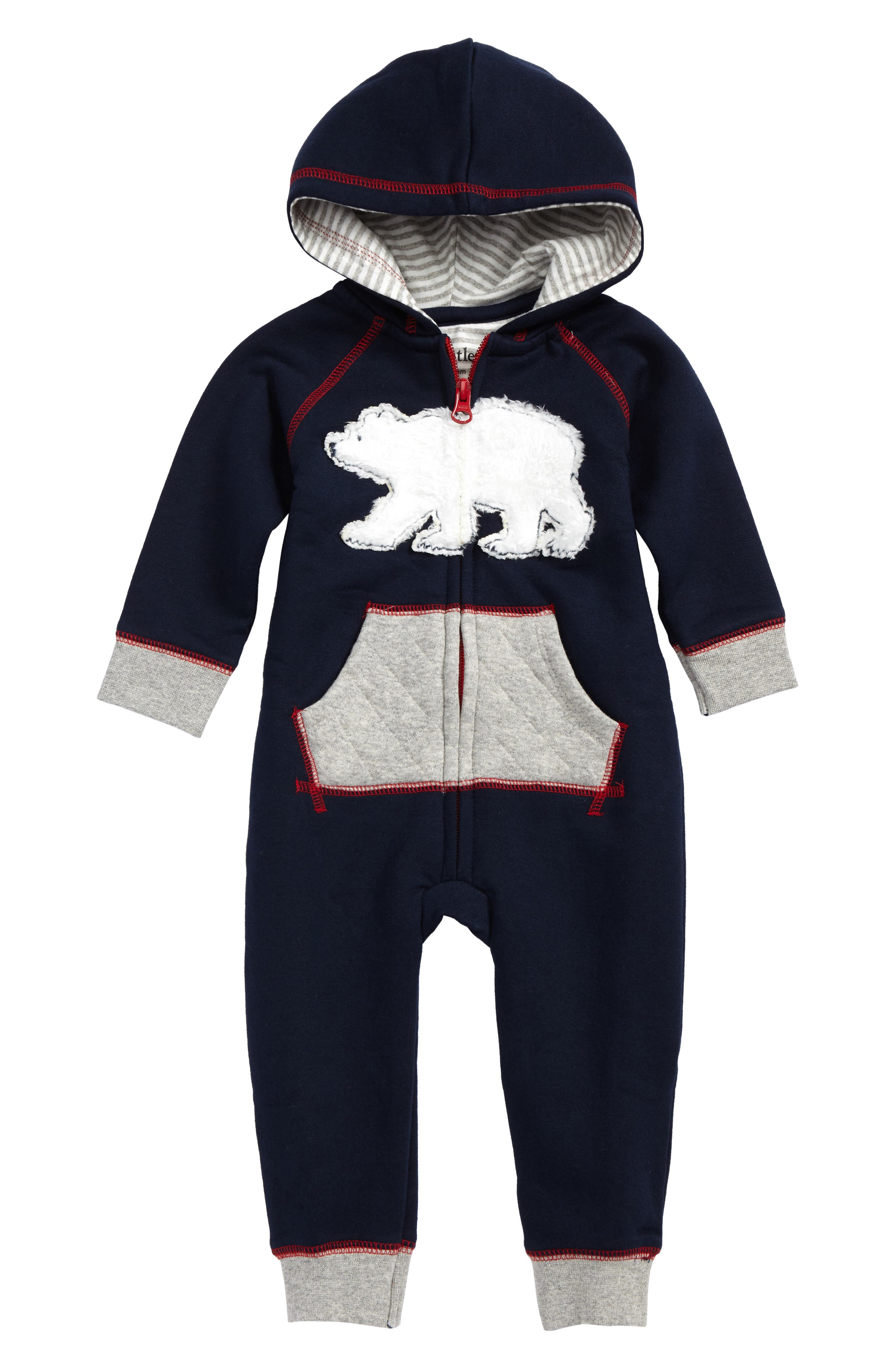Hatley Hooded Romper (Baby Boys)