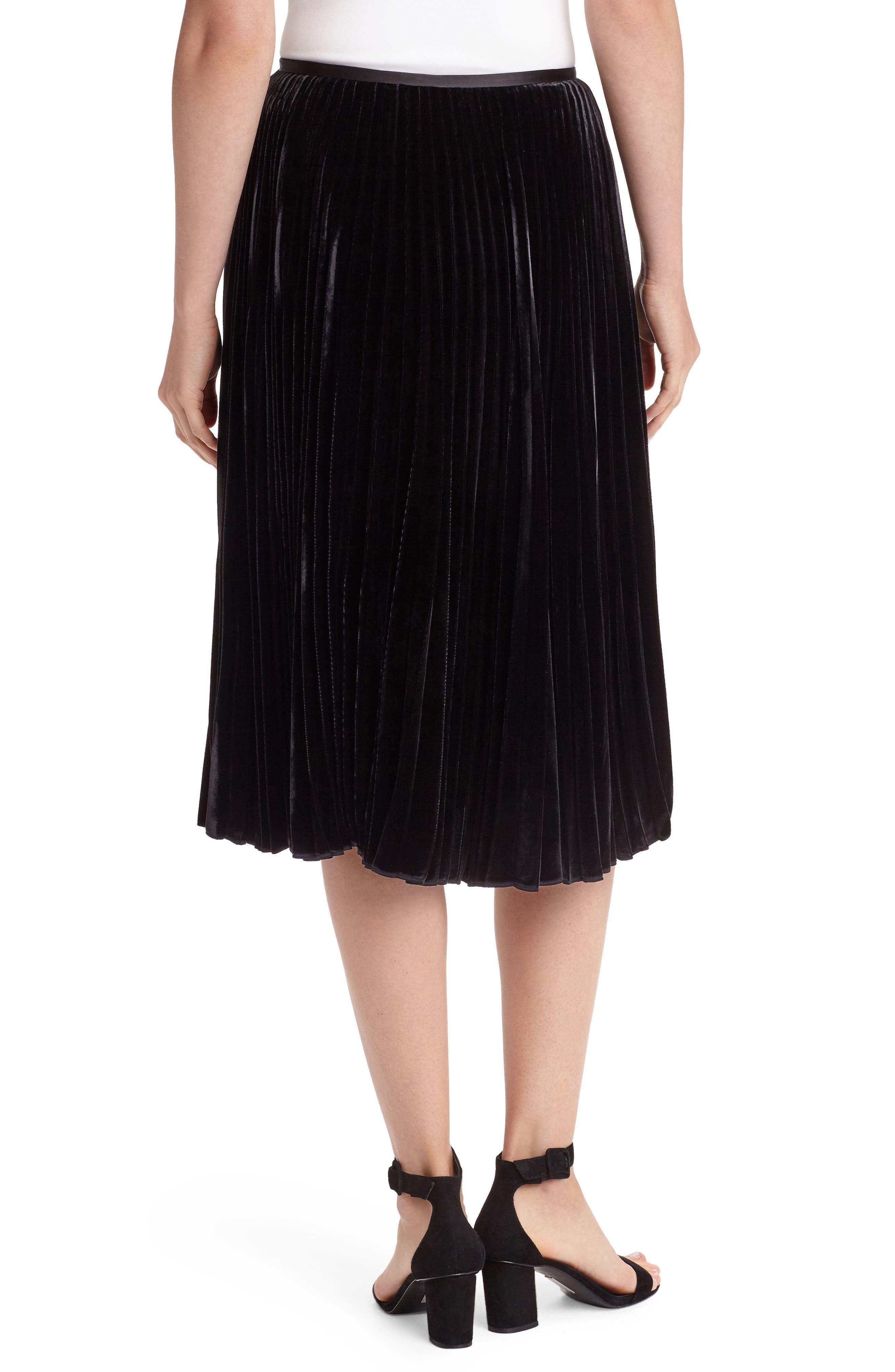 Alternate Image 2  - Lafayette 148 New York Ranella Velvet Skirt