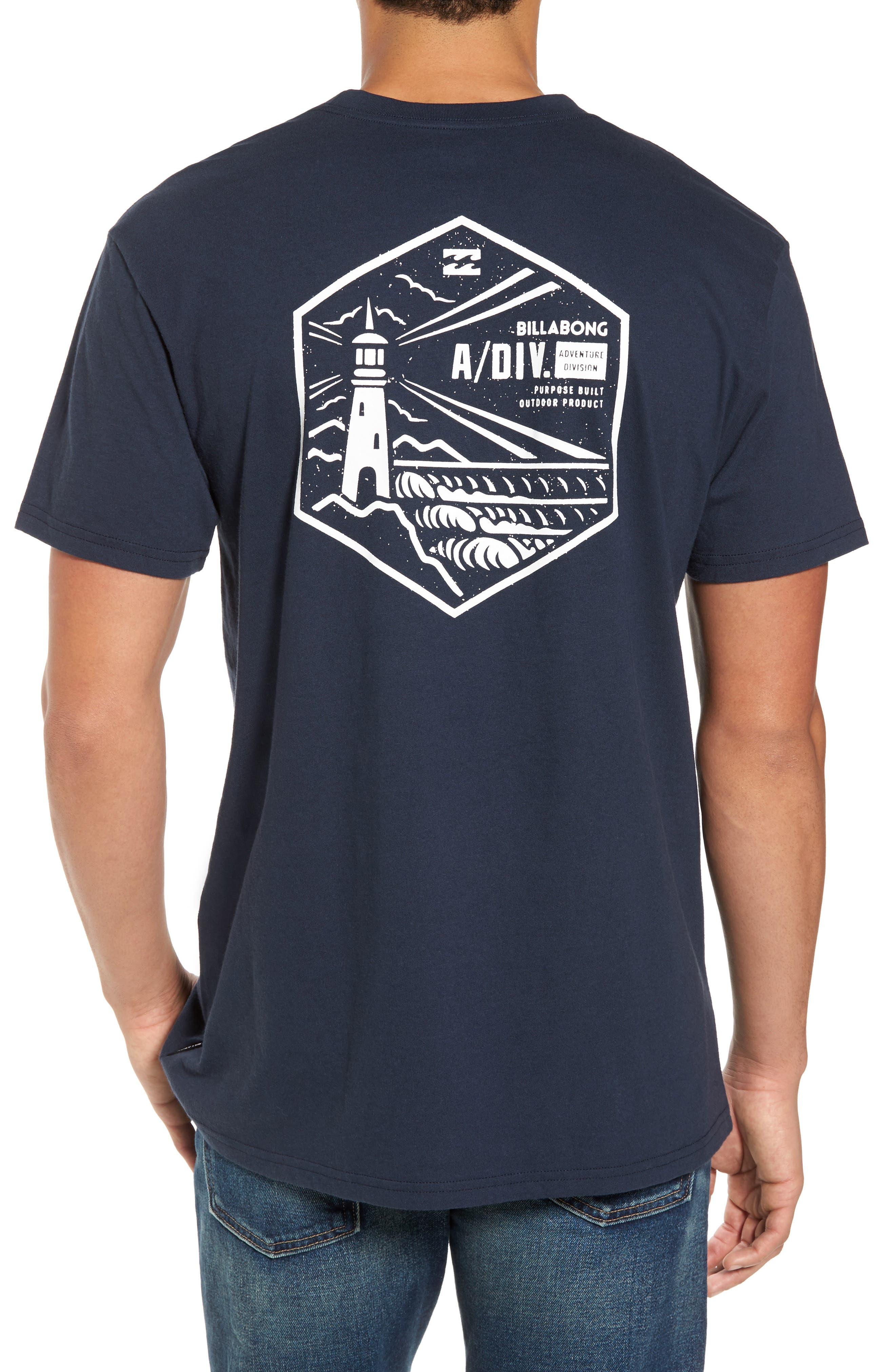 Storm Point Graphic T-Shirt,                             Alternate thumbnail 2, color,                             Navy