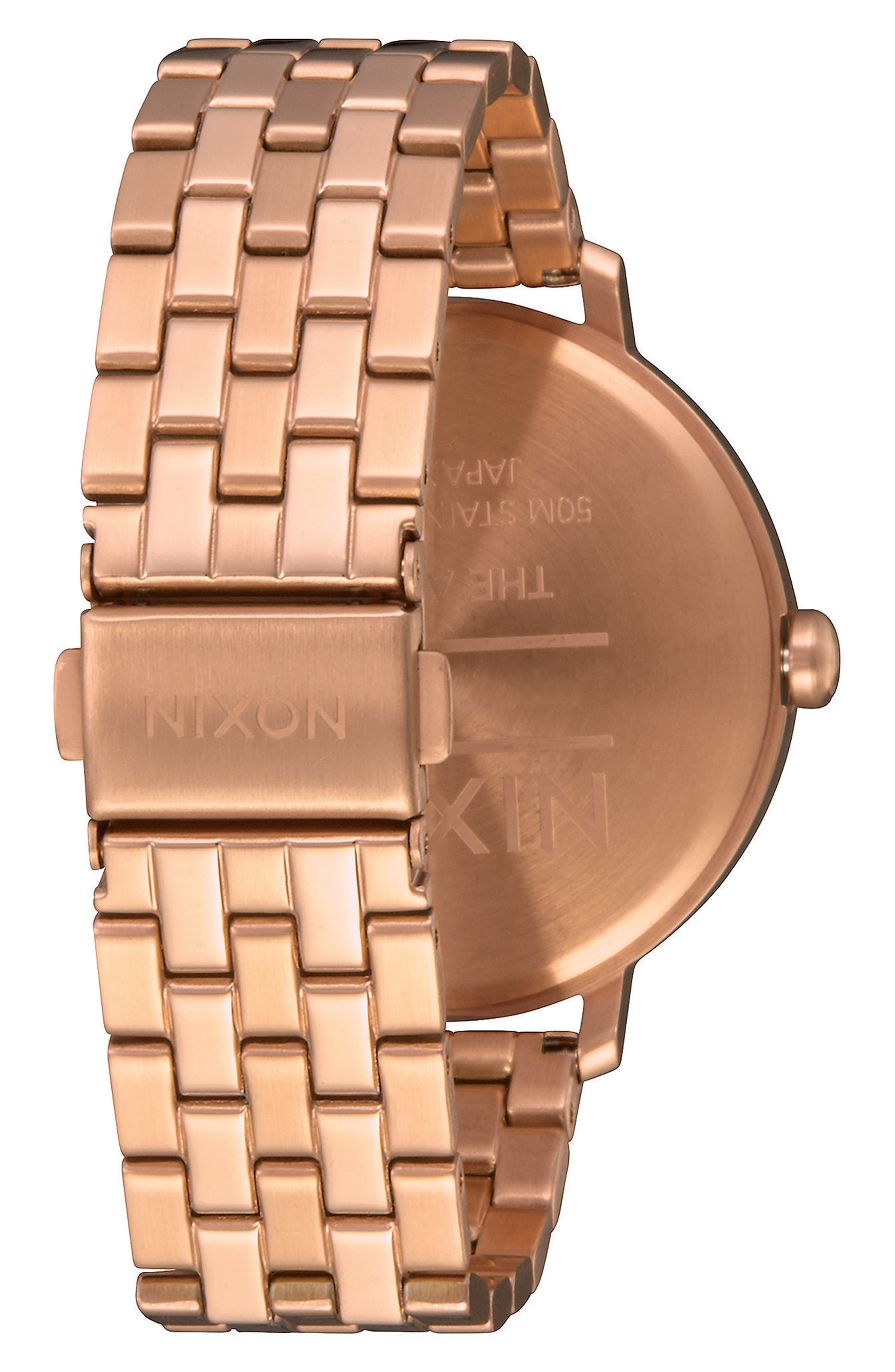 The Arrow Bracelet Watch, 38mm,                             Alternate thumbnail 3, color,                             Rose Gold/ Brown/ Rose Gold