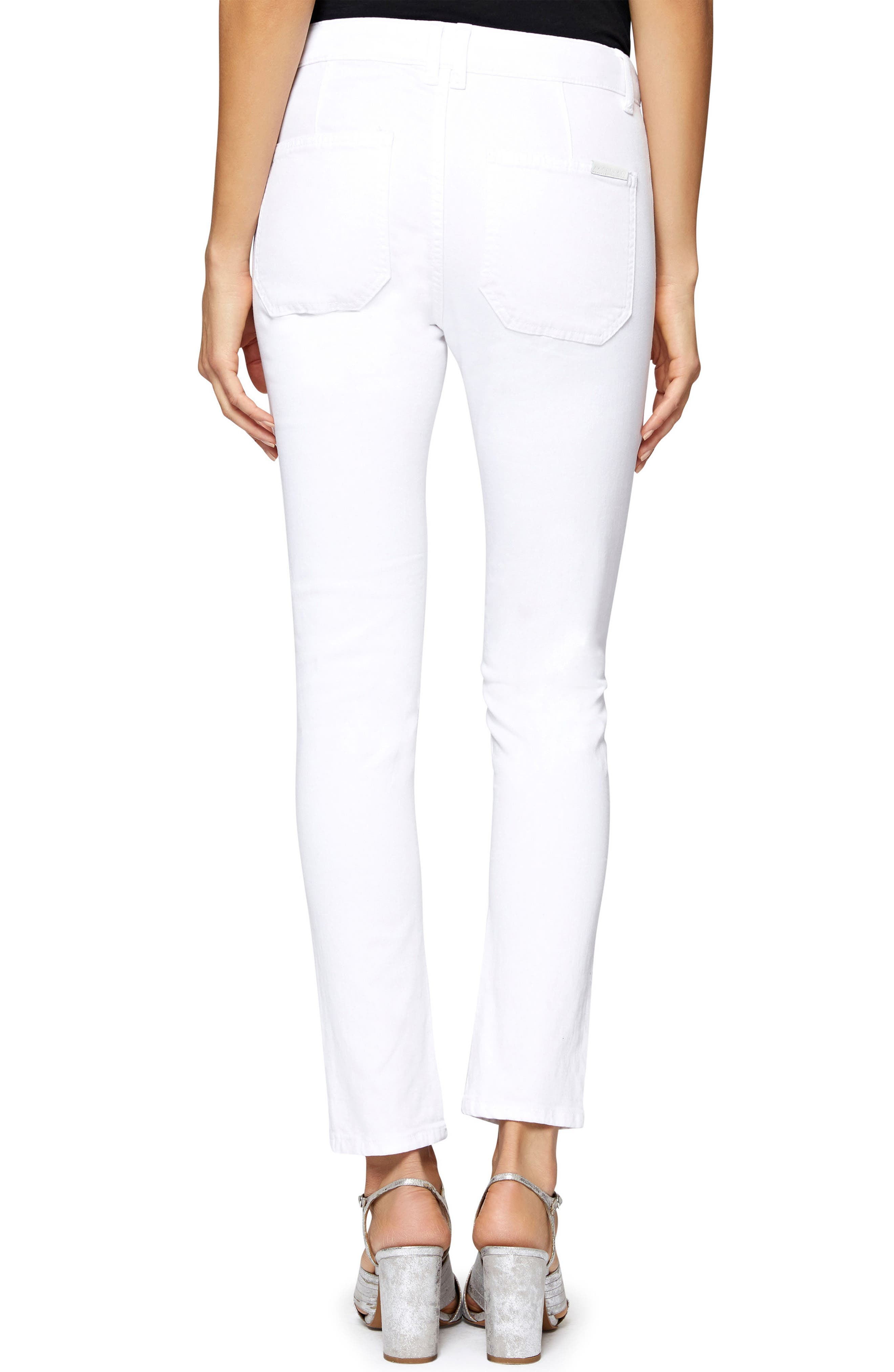 Exposed Peace Straight Pants,                             Alternate thumbnail 2, color,                             White