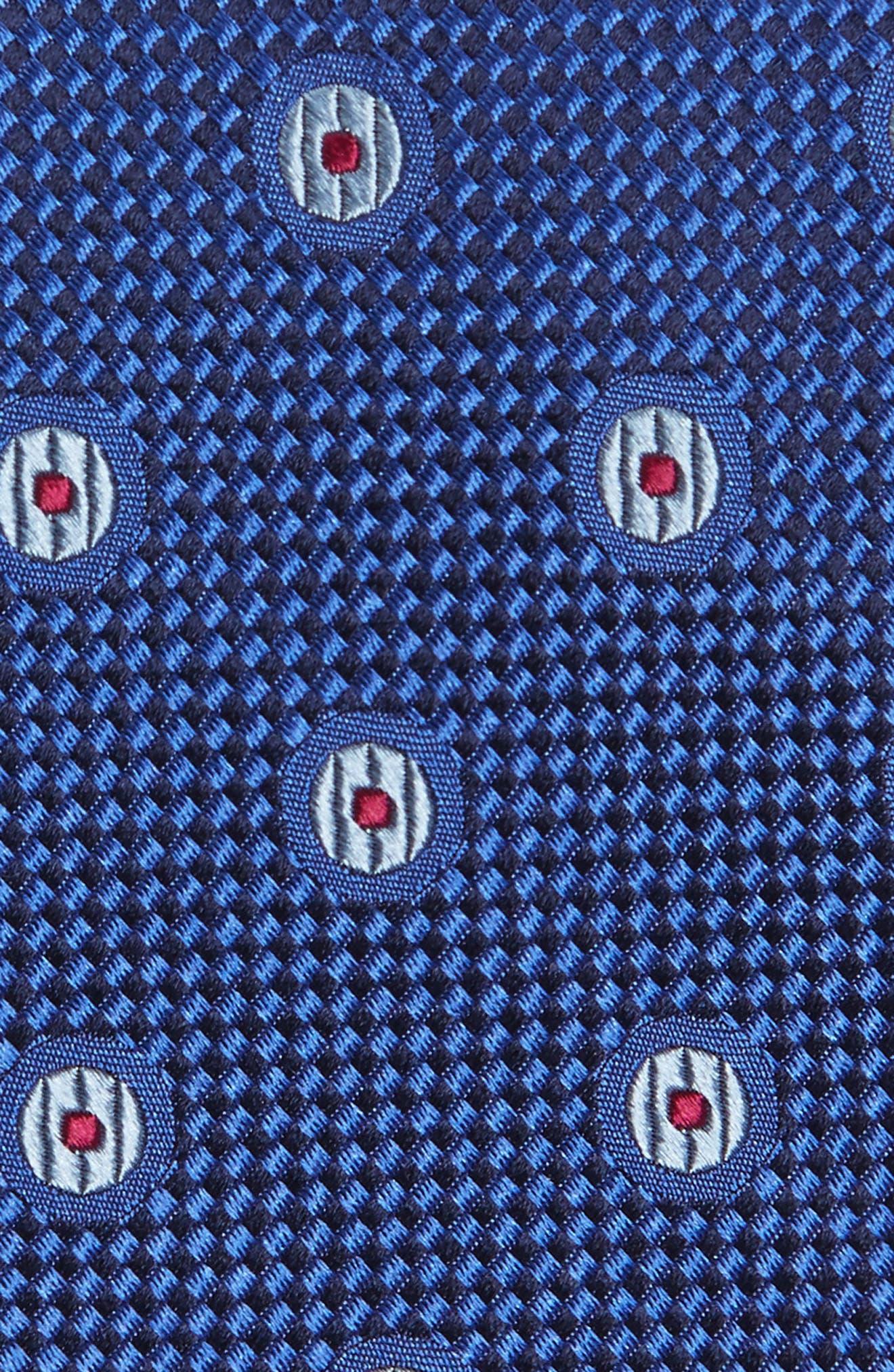 Dot Silk Tie,                             Alternate thumbnail 2, color,                             Royal