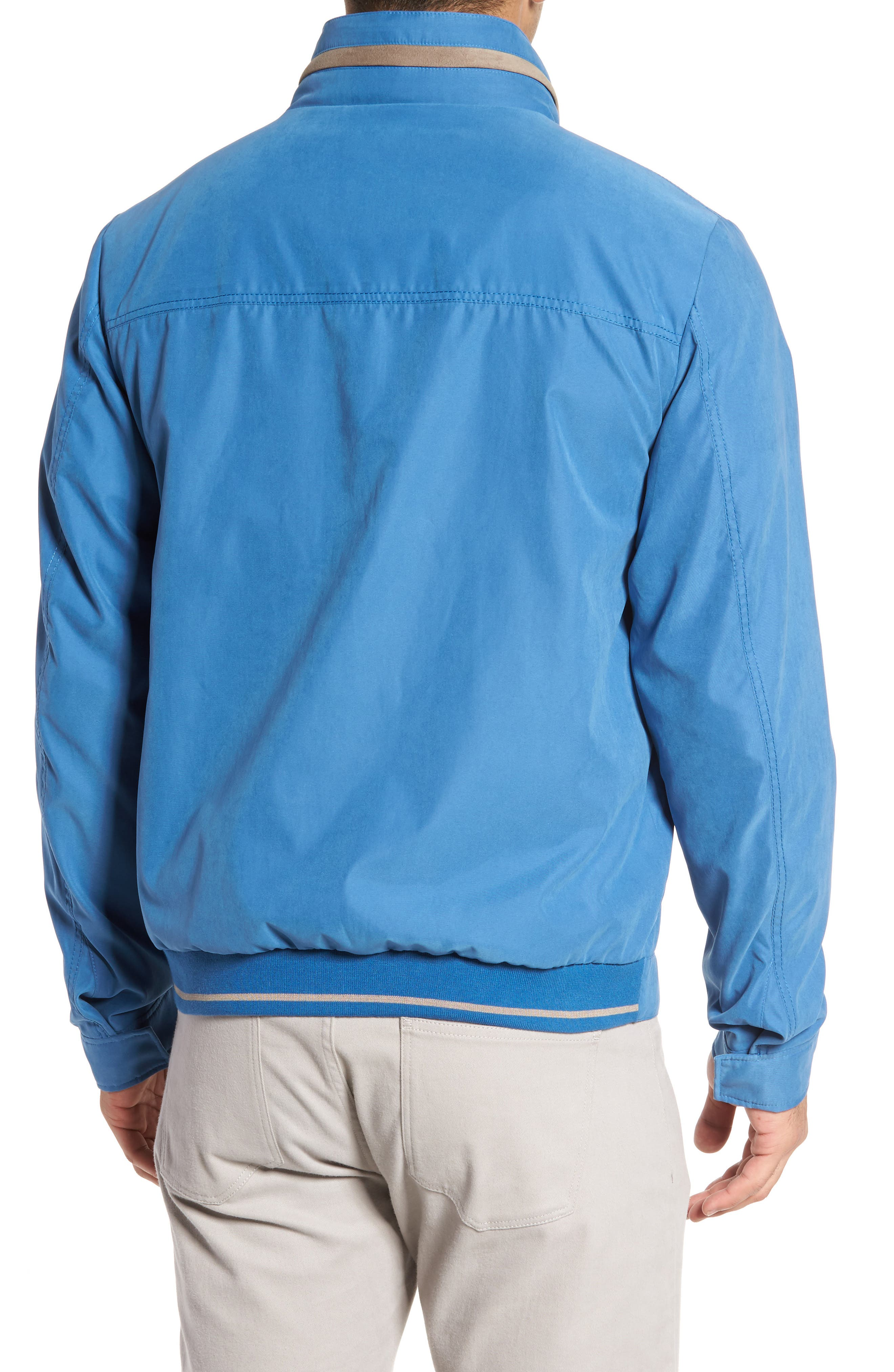 Paul&Shark Water Repellent Microfiber Jacket,                             Alternate thumbnail 2, color,                             Blue