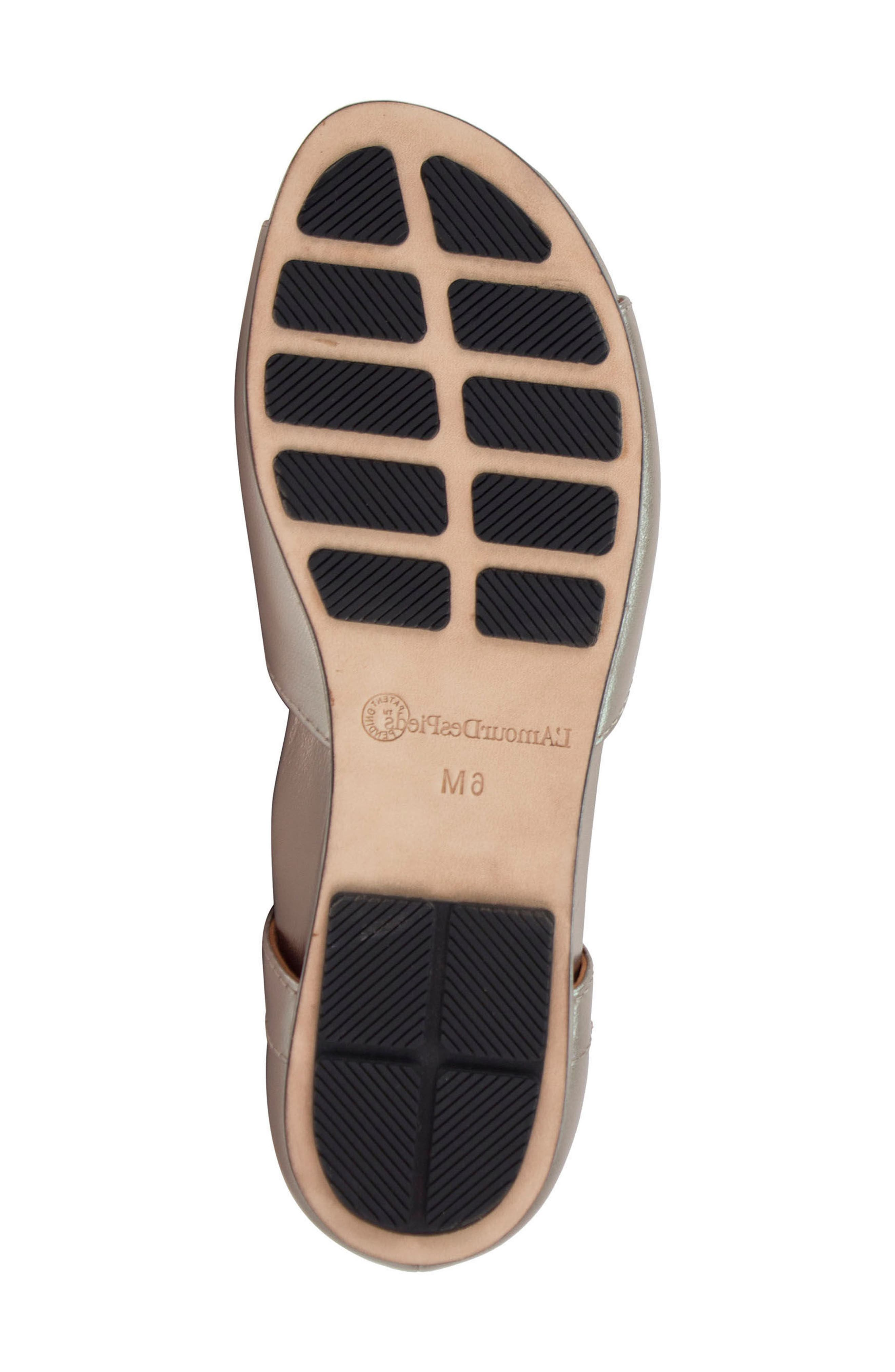 'Darron' Sandal,                             Alternate thumbnail 6, color,                             Pewter Leather