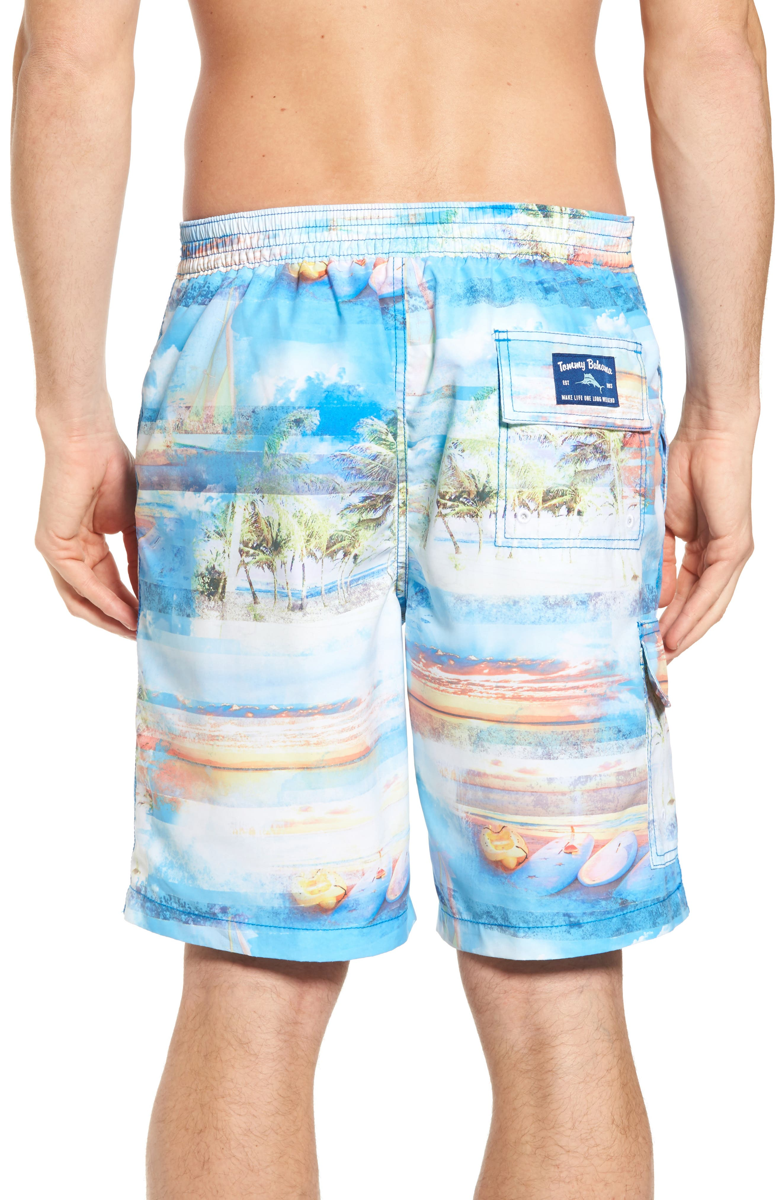 Baja Electric Beach Swim Trunks,                             Alternate thumbnail 2, color,                             Galaxy Blue