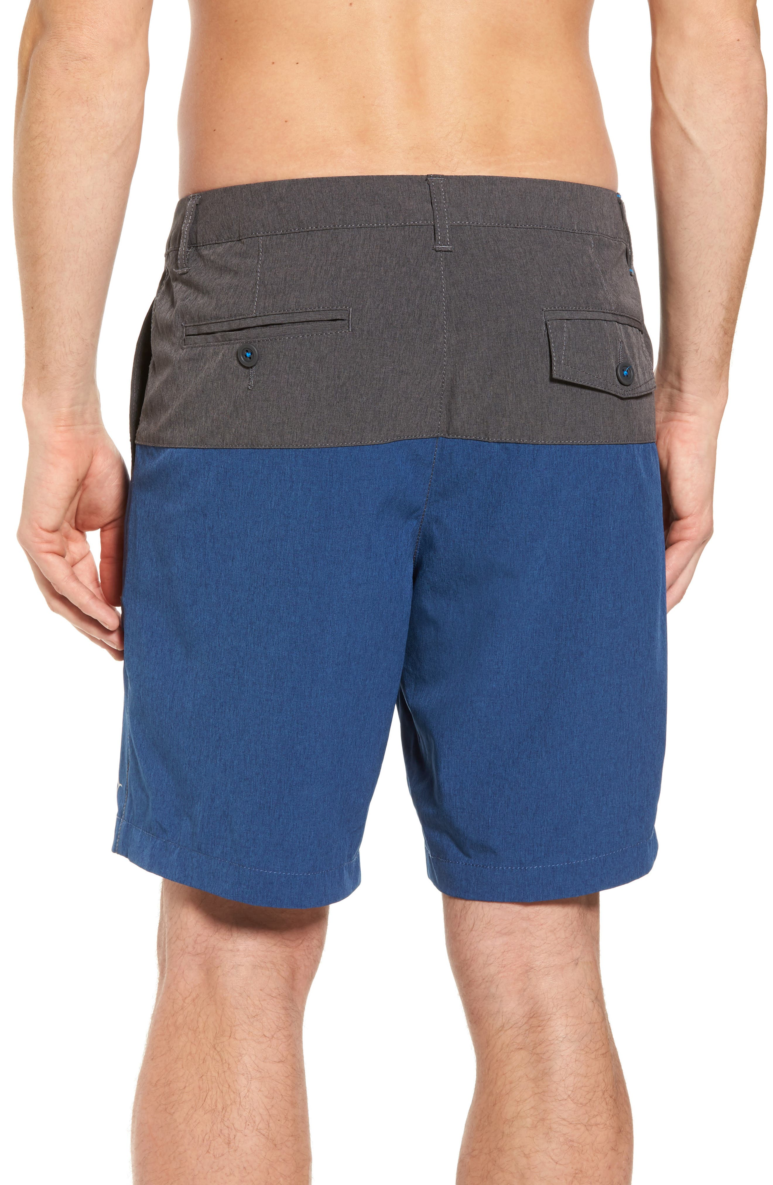 Cayman Block & Roll Hybrid Swim Shorts,                             Alternate thumbnail 2, color,                             Deep Marine