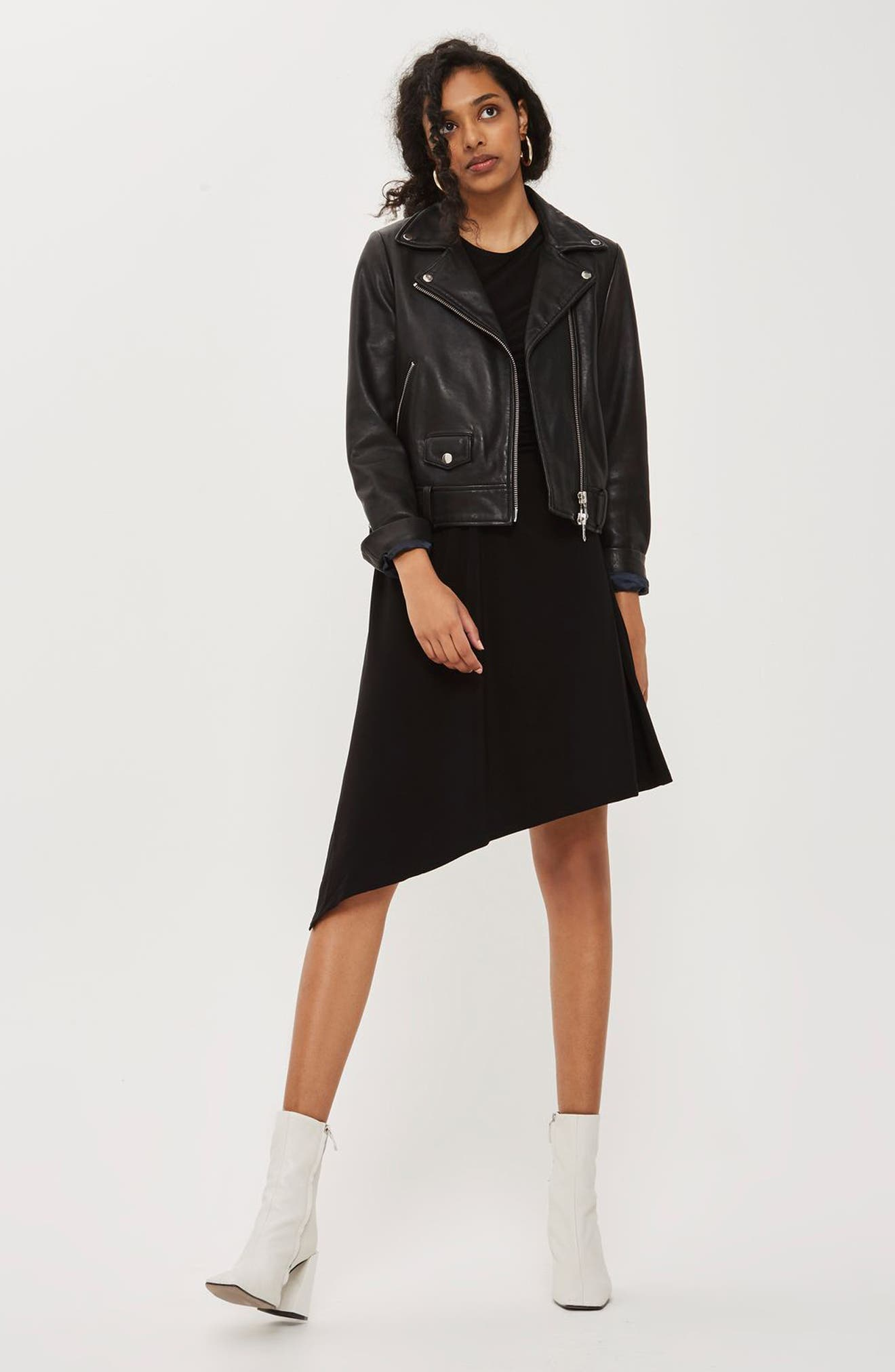 Alternate Image 2  - Topshop Ruched Asymmetrical Dress