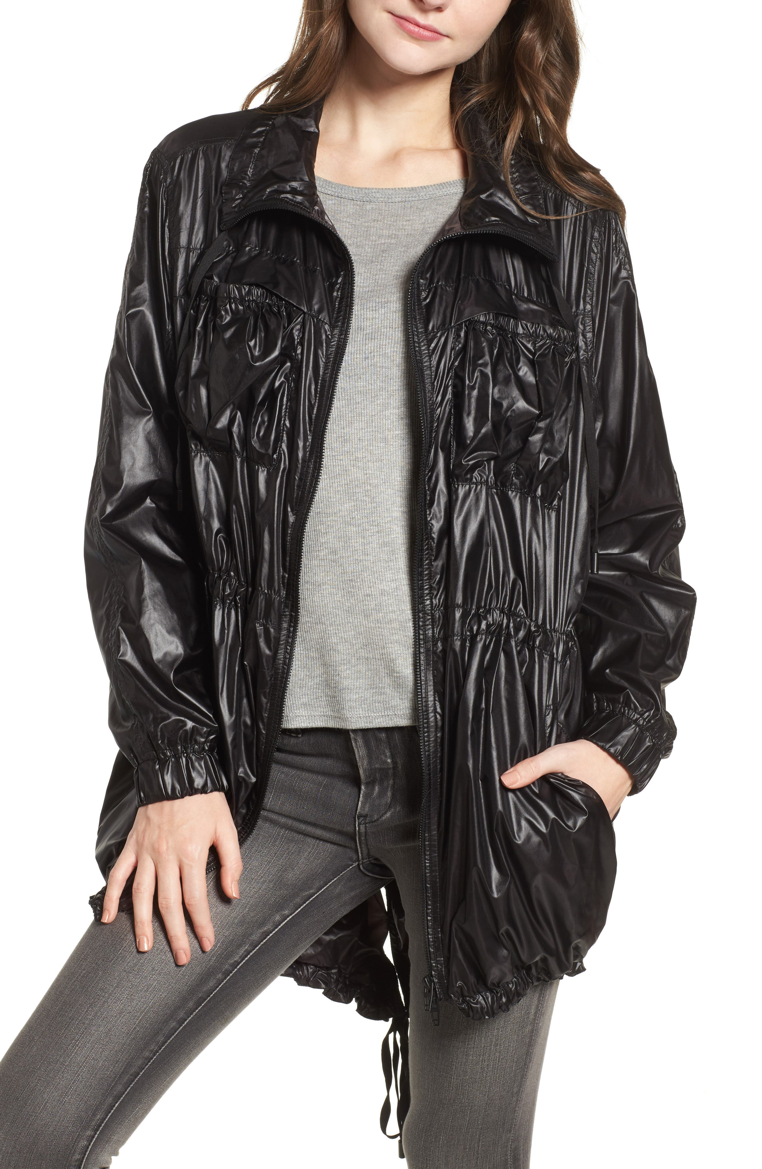 Lightweight Long Jacket,                         Main,                         color, After Dark