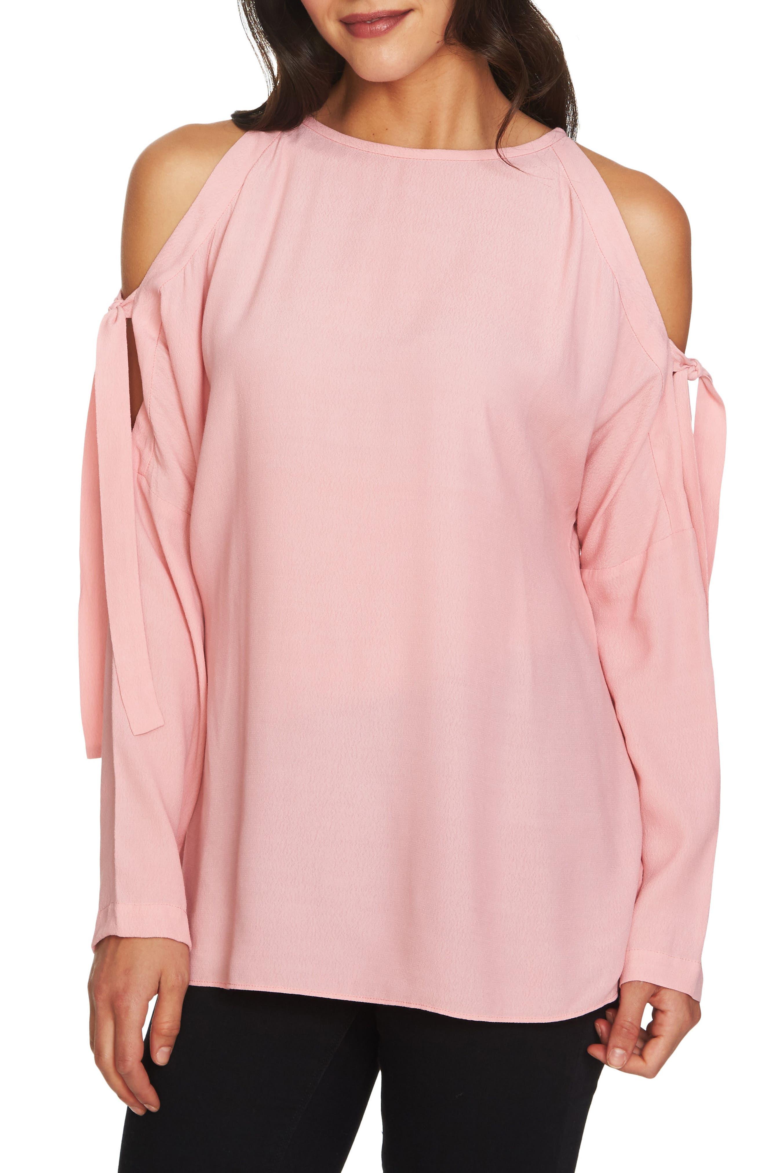 Cold Shoulder Blouse,                         Main,                         color, Rose Nectar