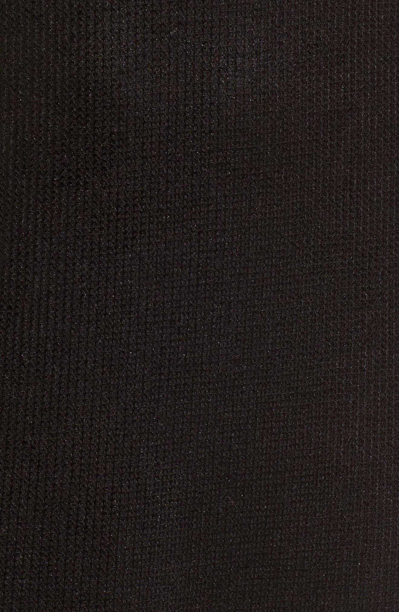 Metallic Coated Dress,                             Alternate thumbnail 5, color,                             Black