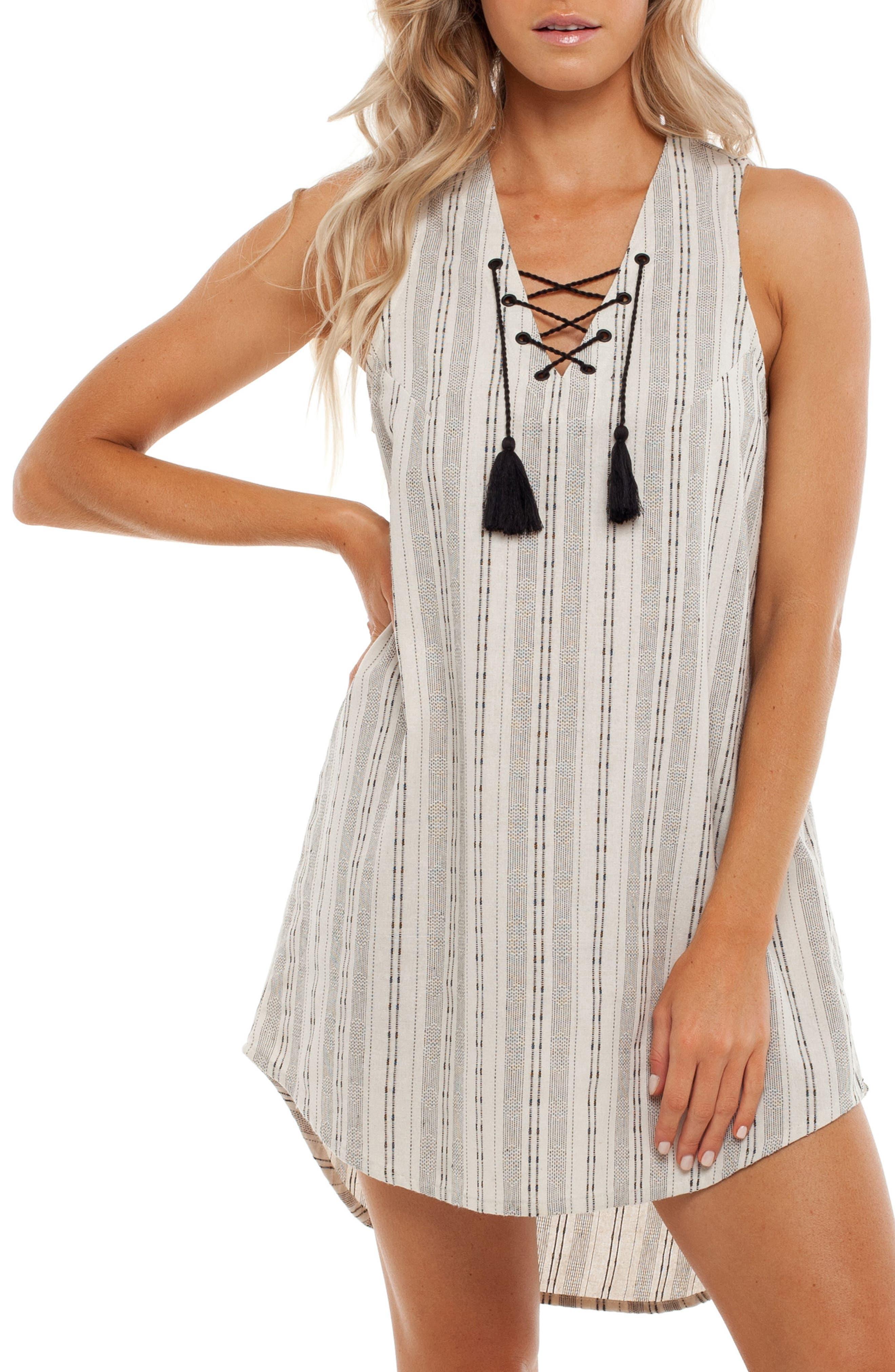 Panama Cover-Up Dress,                             Main thumbnail 1, color,                             White