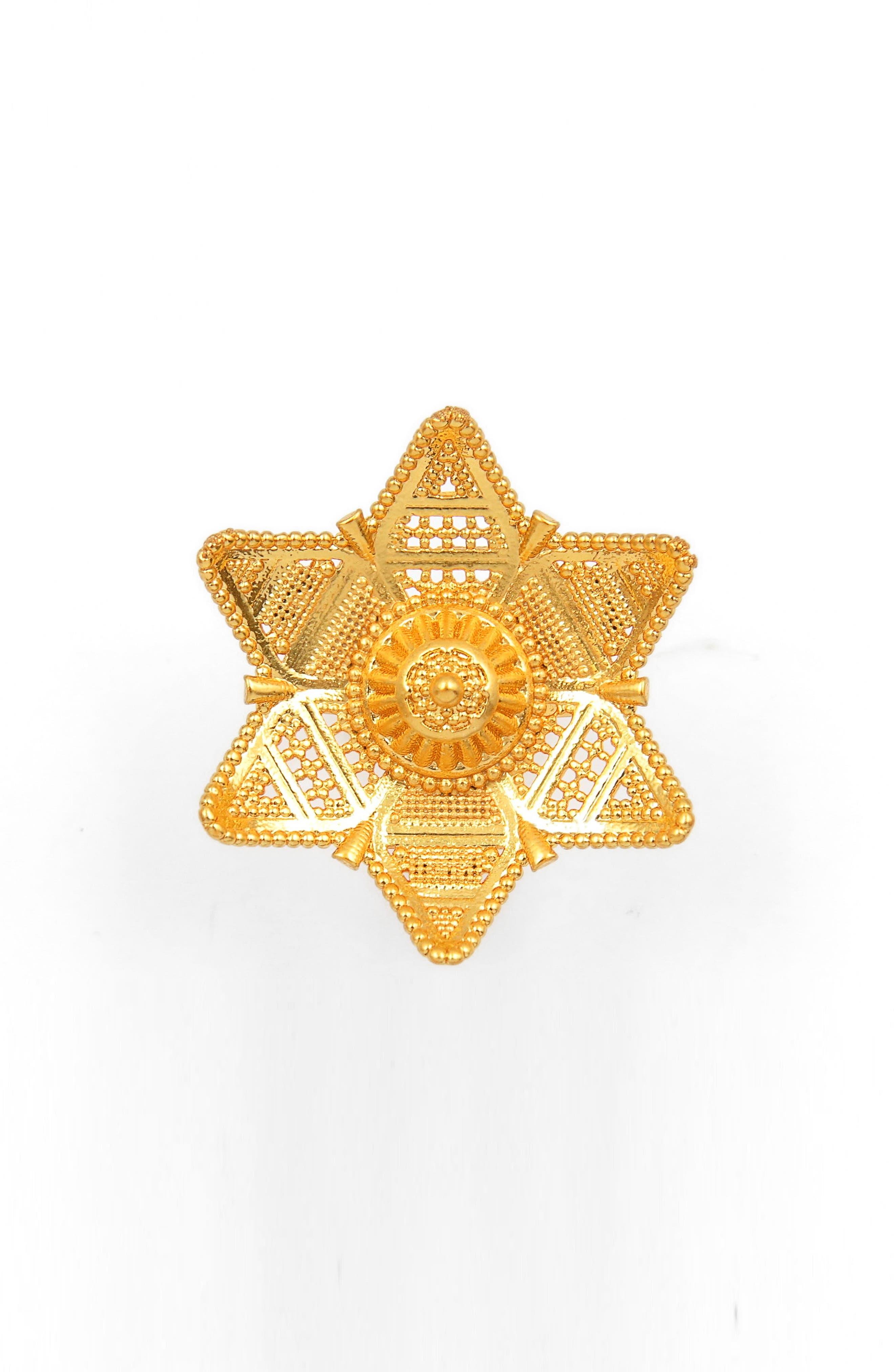 Six-Point Filigree Star Ring,                             Main thumbnail 1, color,                             Gold