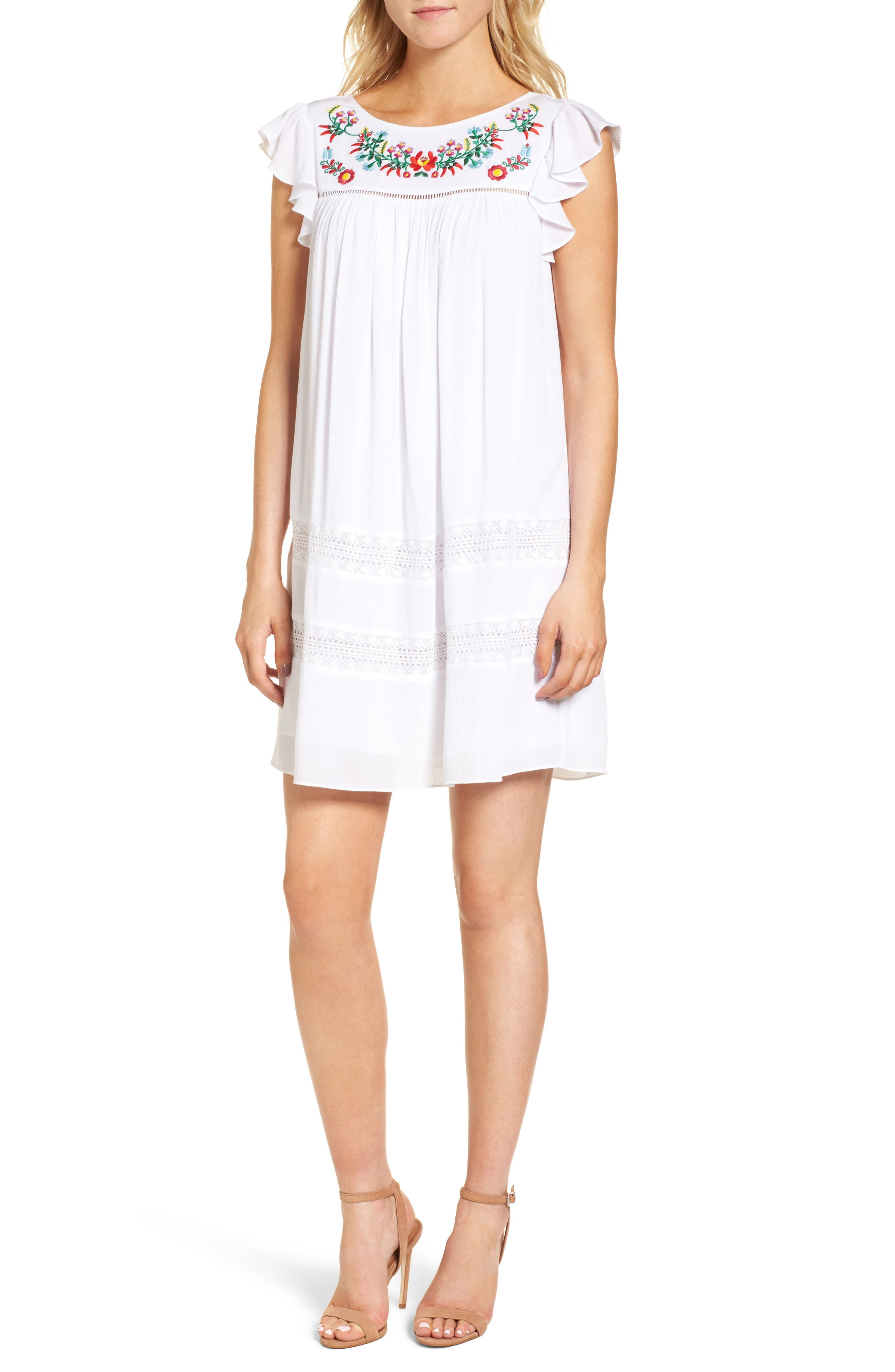 Boca Dress,                         Main,                         color, White