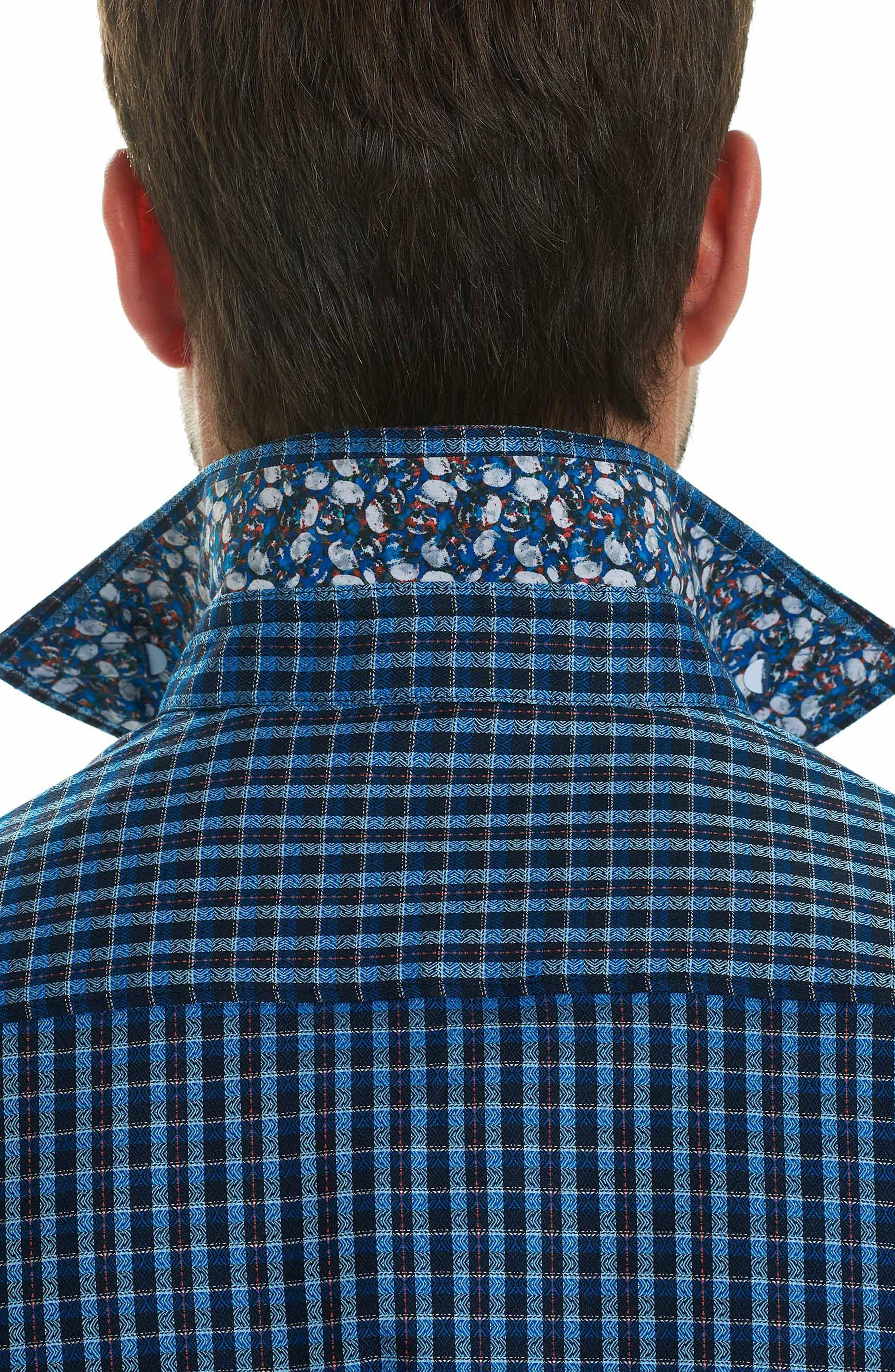 Matira Classic Fit Check Sport Shirt,                             Alternate thumbnail 3, color,                             Blue