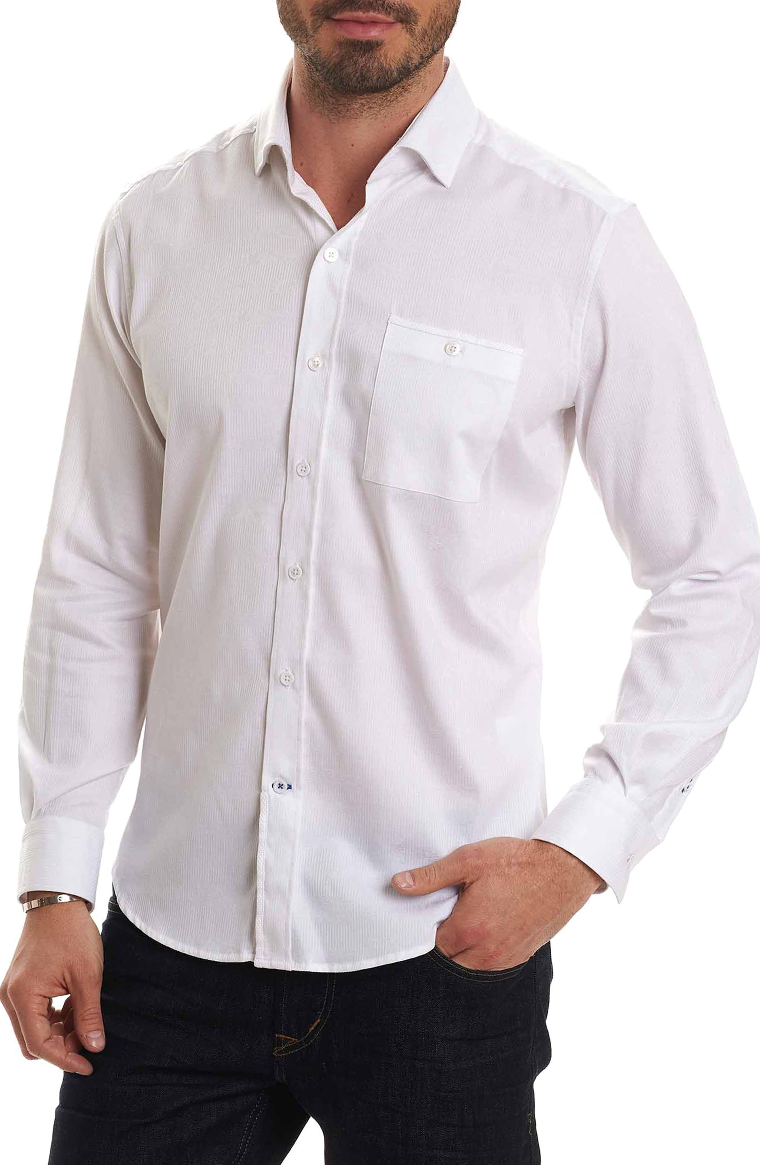 Christopher Print Sport Shirt,                         Main,                         color, White