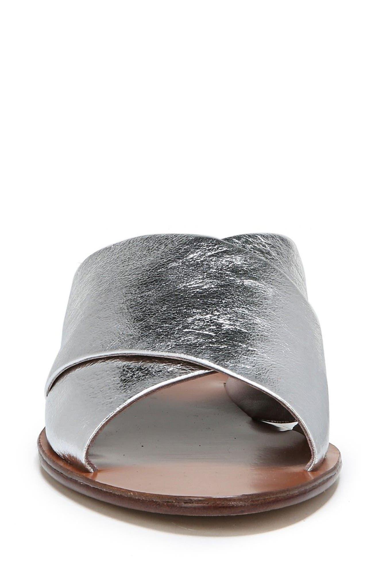 Bailie Sandal,                             Alternate thumbnail 5, color,                             Silver Leather