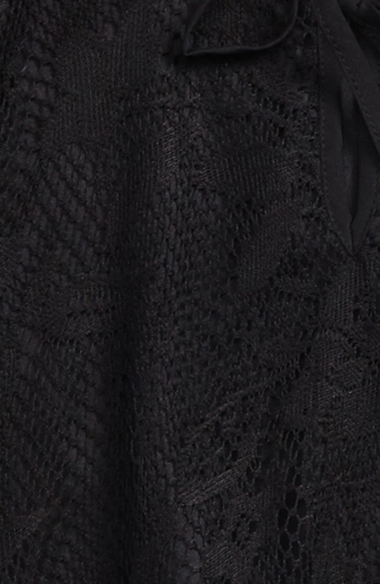 Zoe & Rose Lace Flare Sleeve Blouse,                             Alternate thumbnail 2, color,                             Black