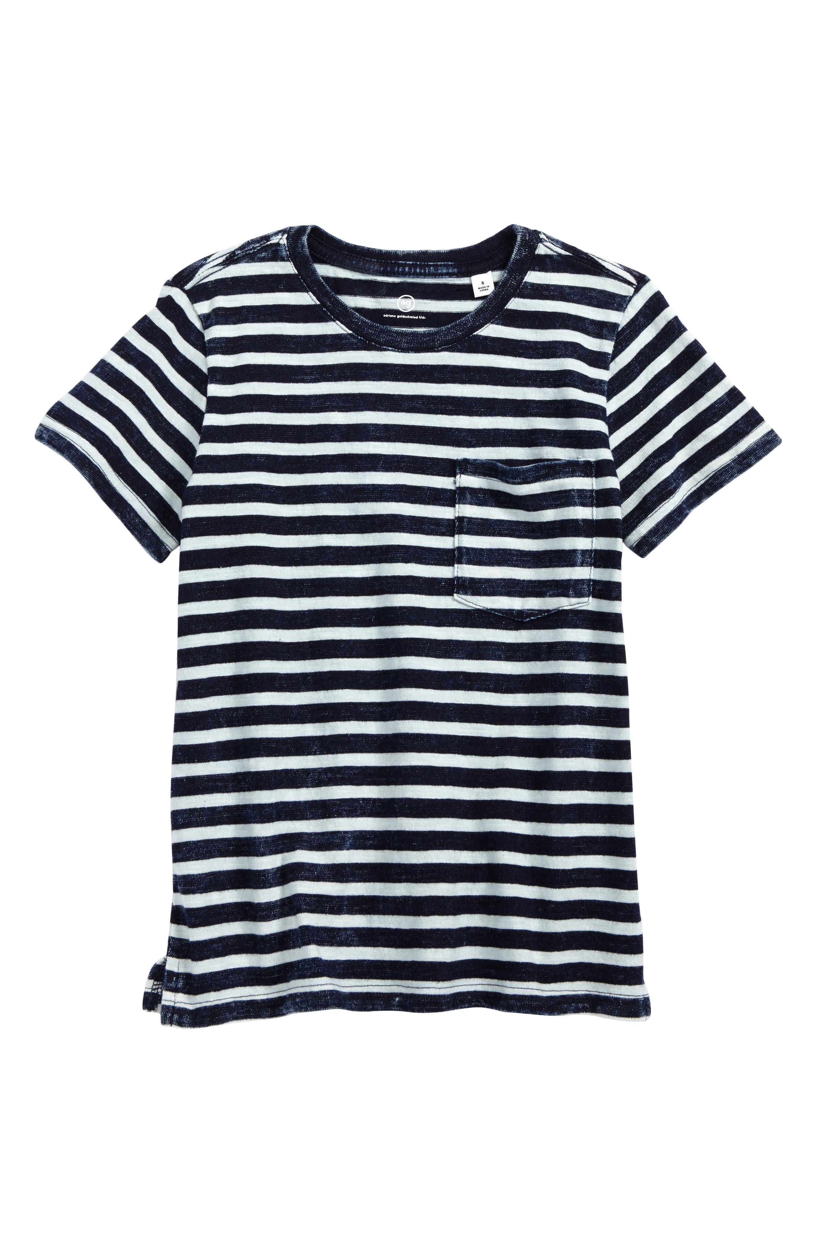 Acid Wash Stripe T-Shirt,                         Main,                         color, Indigo Stripe