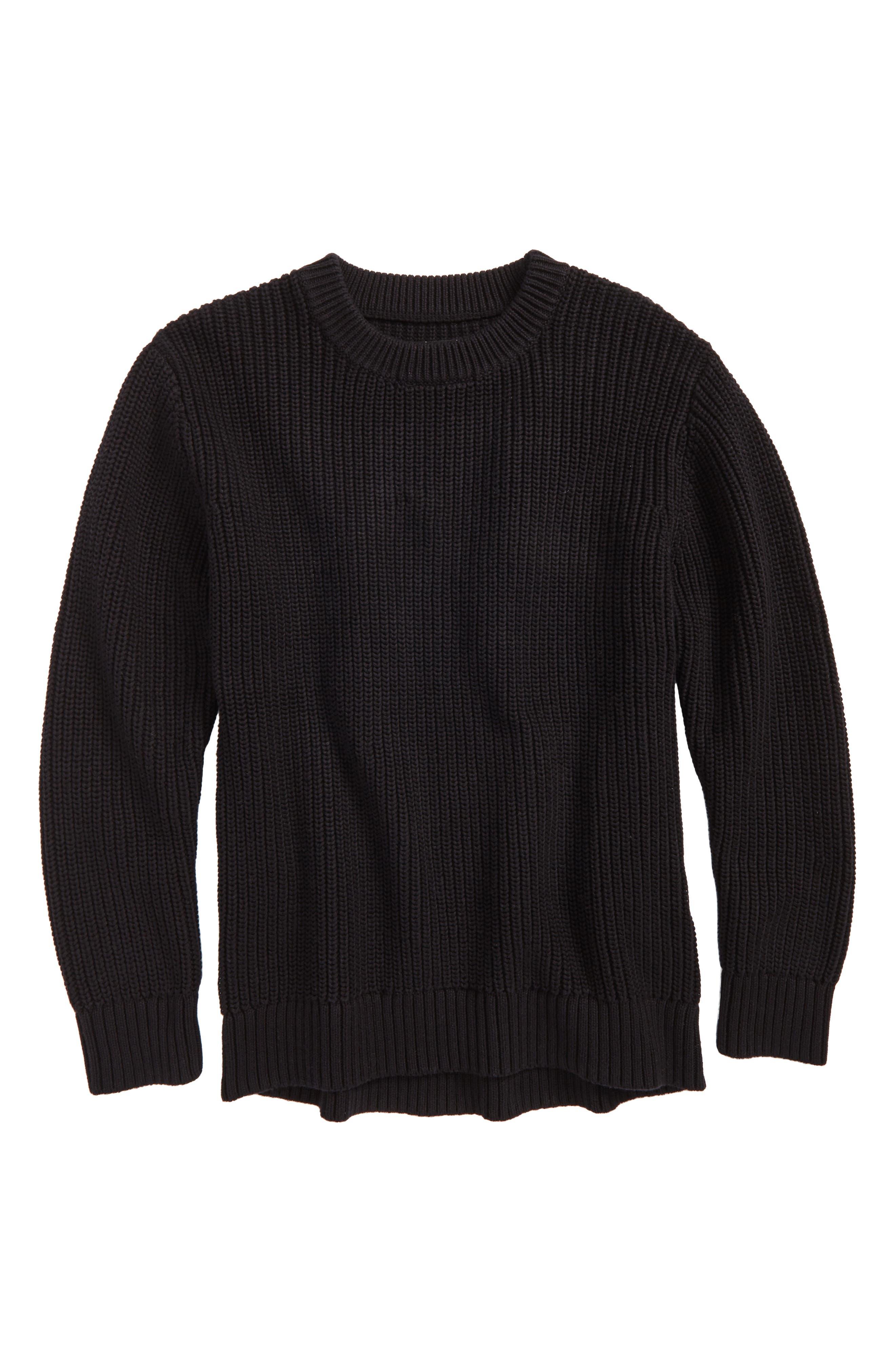 Heavy Stitch Sweater,                         Main,                         color, Black