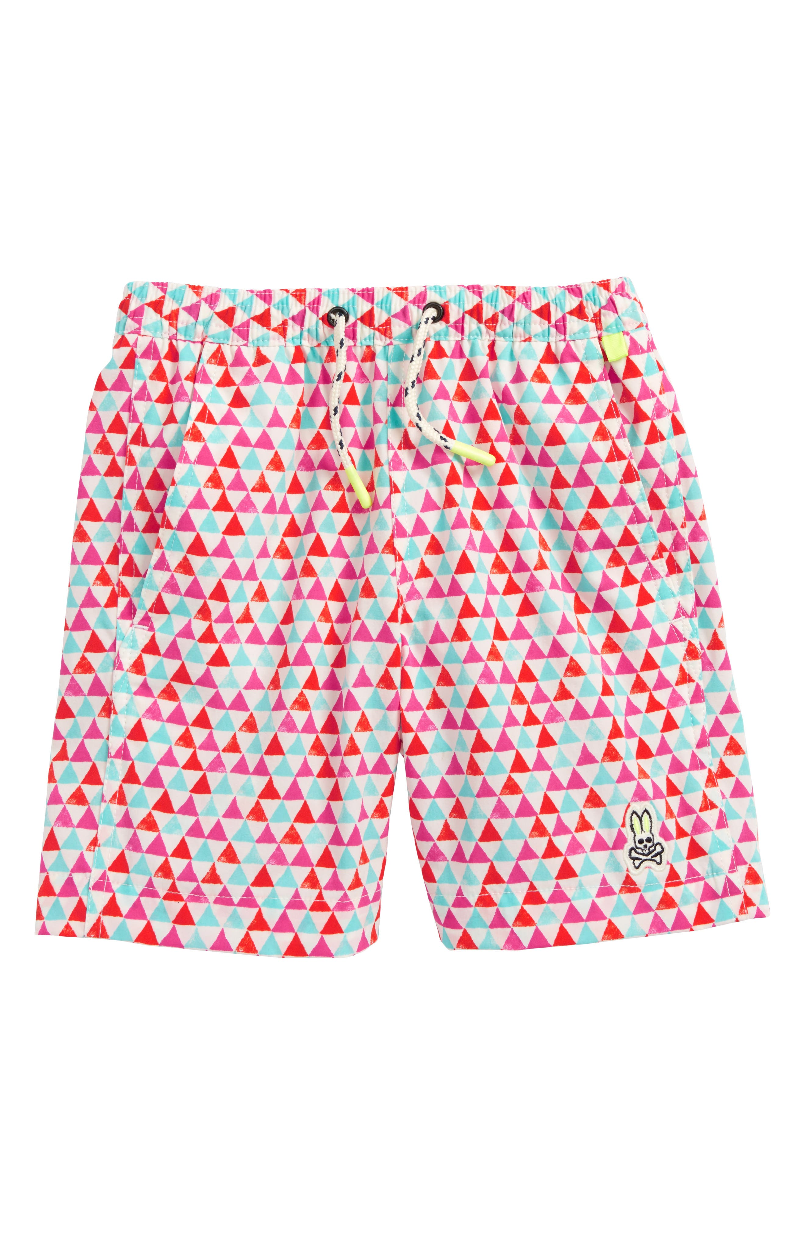 Psycho Bunny Print Swim Trunks (Little Boys & Big Boys)
