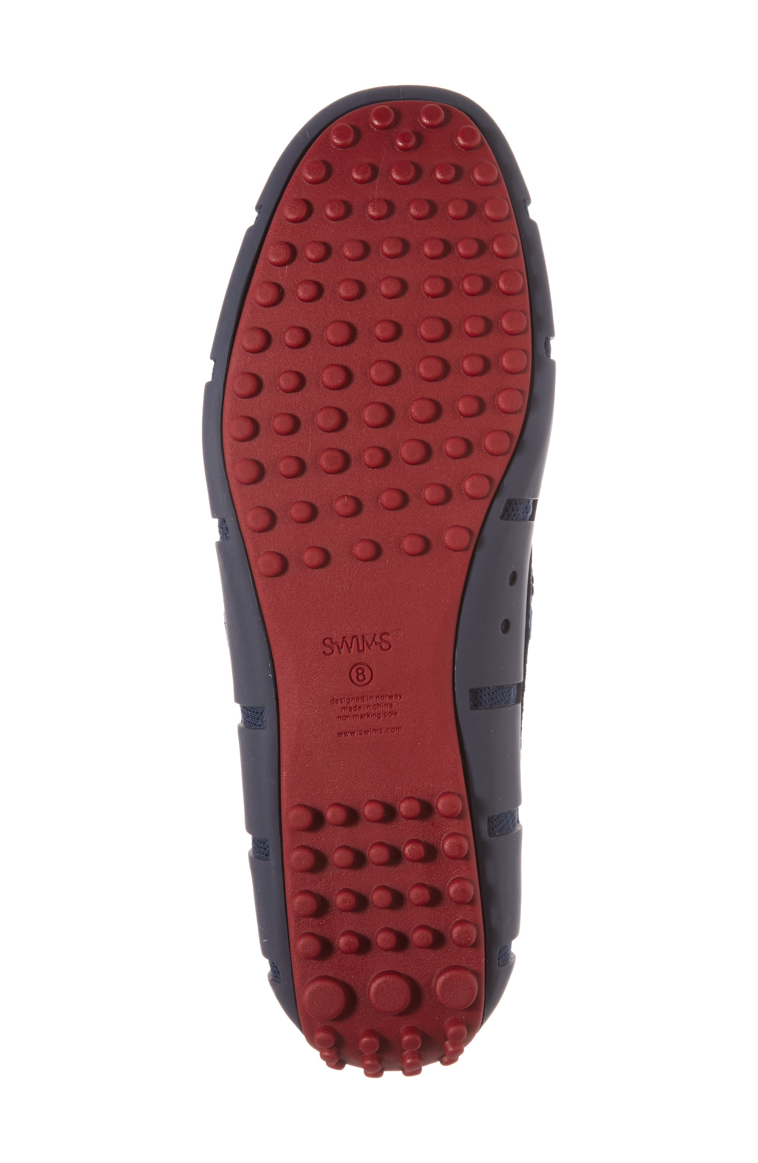 Driving Shoe,                             Alternate thumbnail 6, color,                             Navy / Deep Red