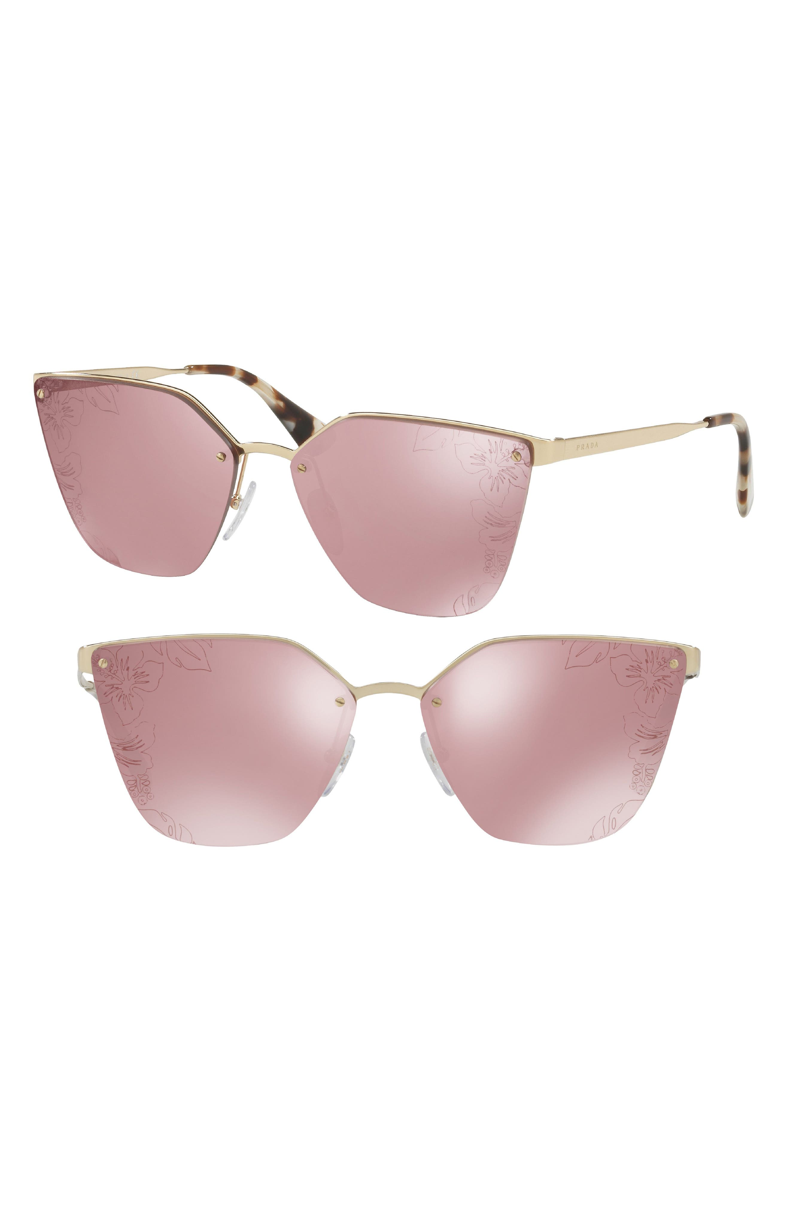Cinéma 63mm Oversize Rimless Sunglasses,                         Main,                         color, Pink