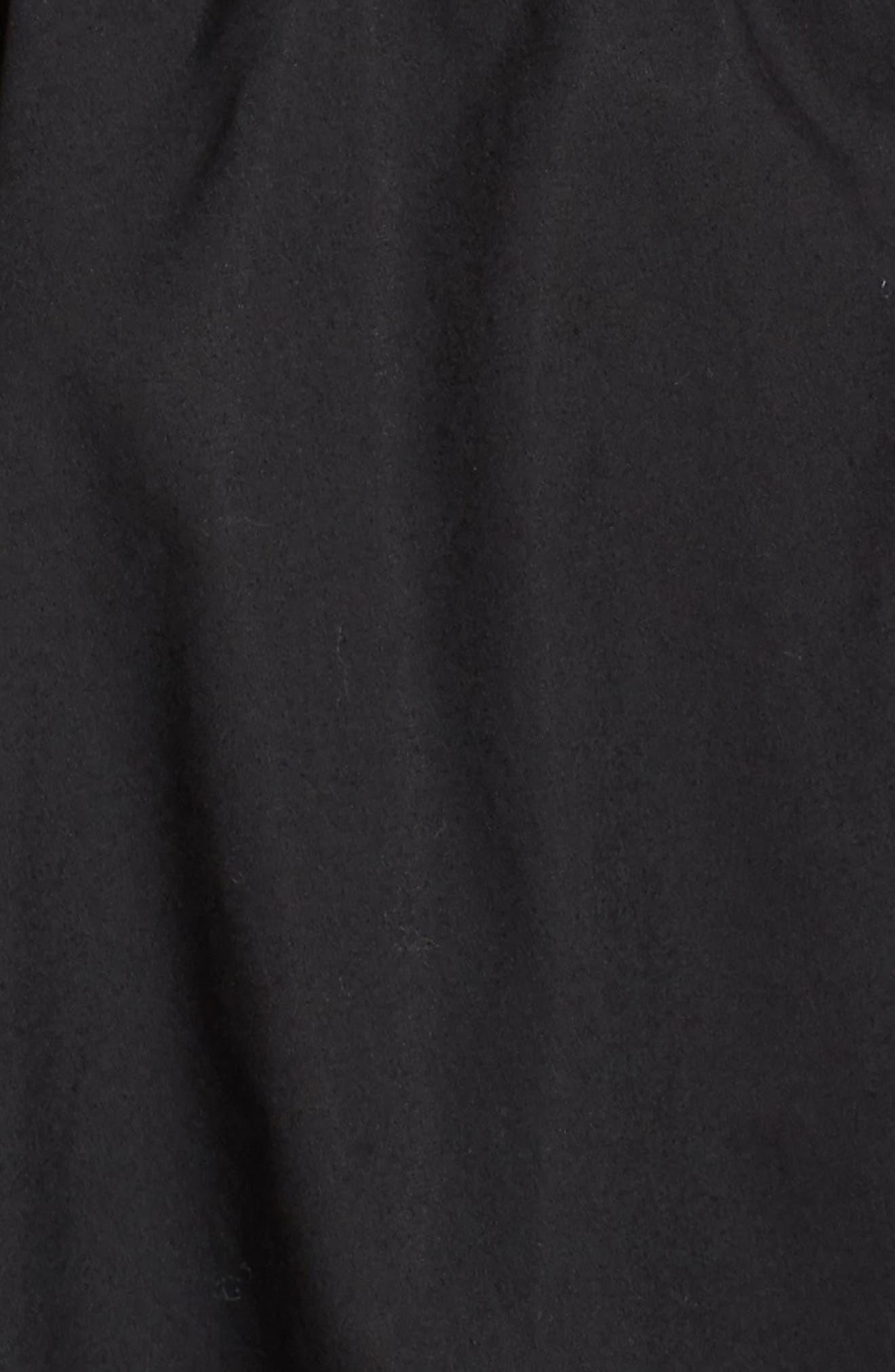 One-Shoulder Fit & Flare Dress,                             Alternate thumbnail 5, color,                             Black