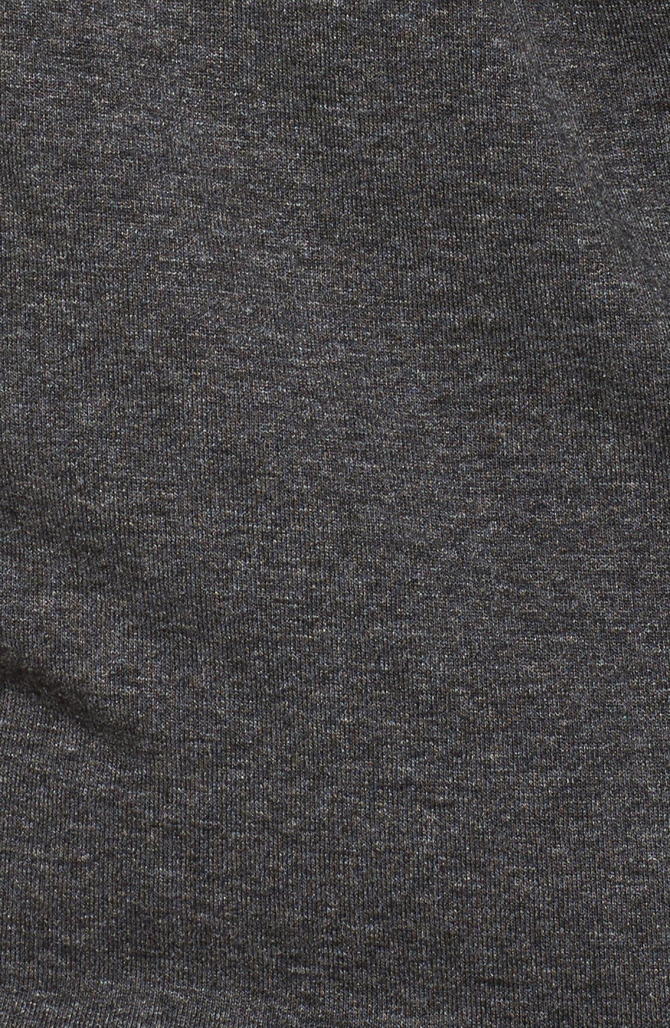 Slit Sleeve Knit Sheath Dress,                             Alternate thumbnail 5, color,                             Medium Heather Grey