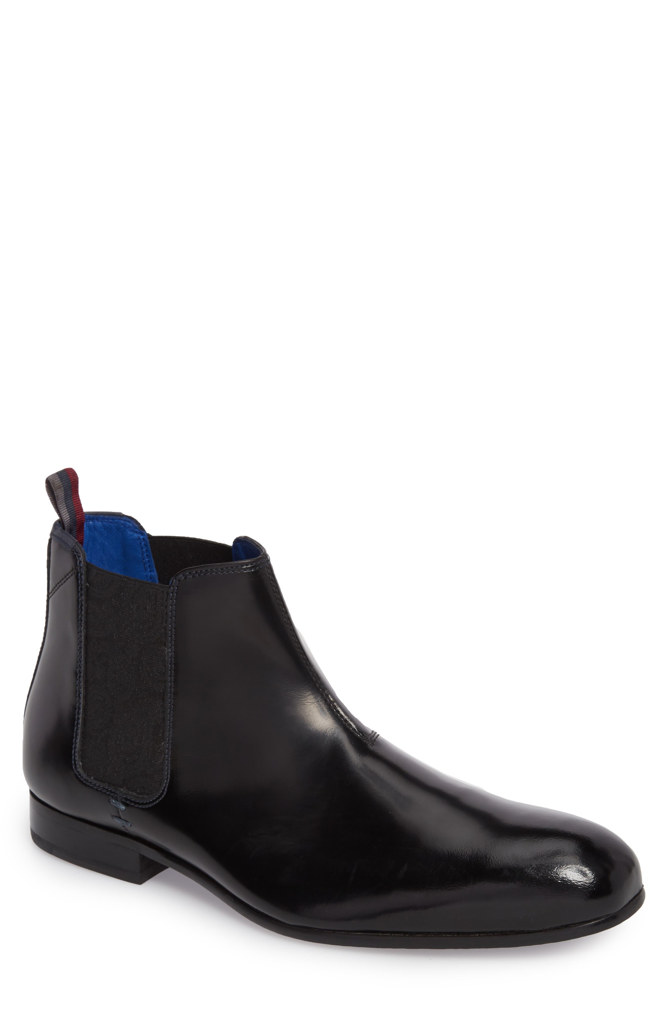 Auldham Chelsea Boot,                         Main,                         color, Black Leather
