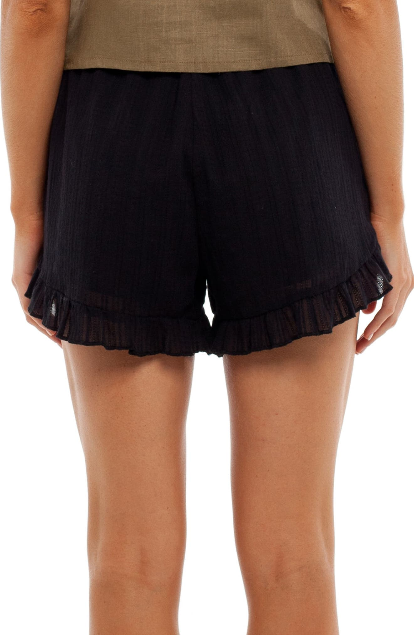 Daydreamer Cover-Up Shorts,                             Alternate thumbnail 2, color,                             Black