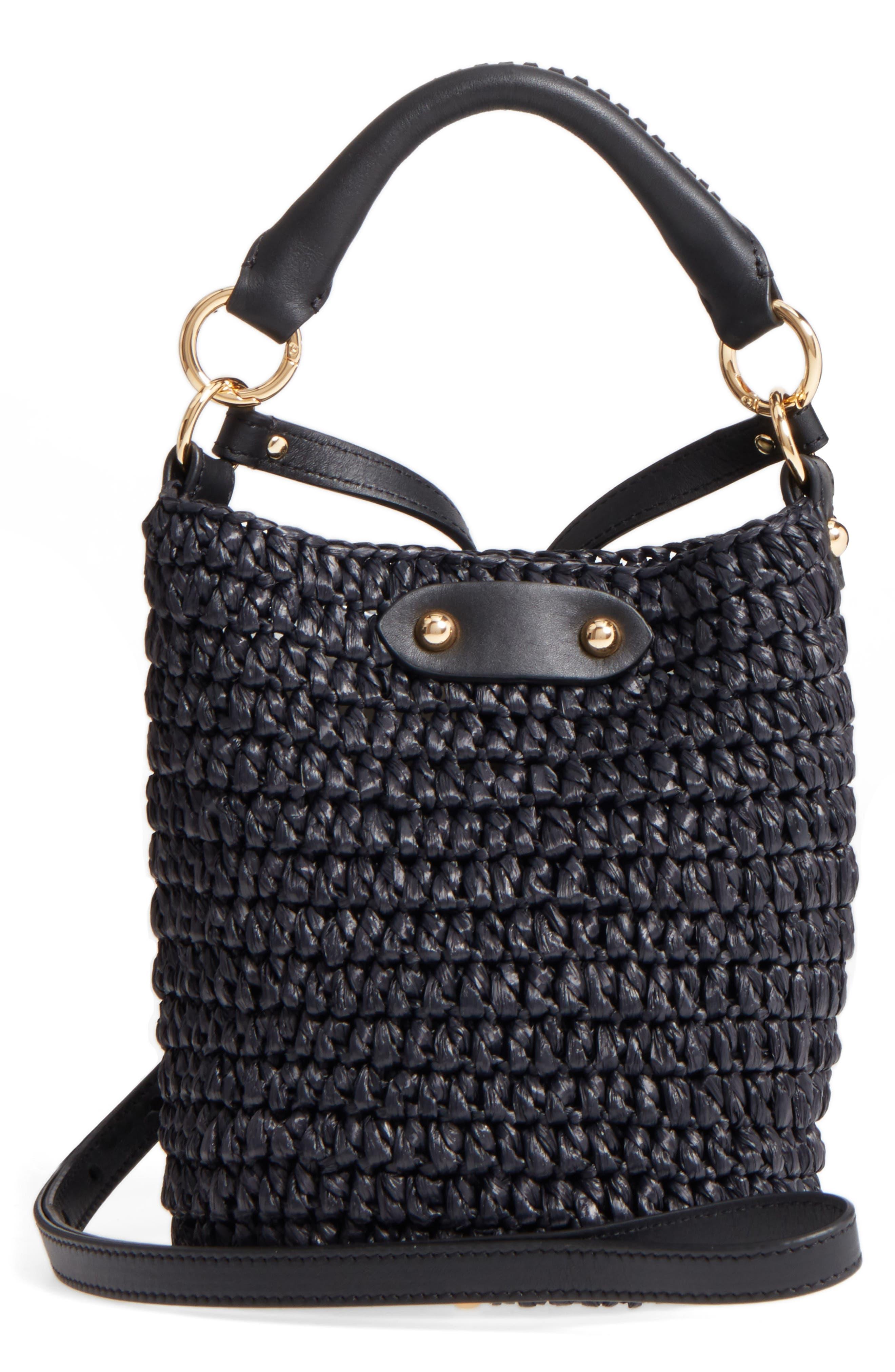 Main Image - Diane von Furstenberg Mini Raffia Bucket Bag