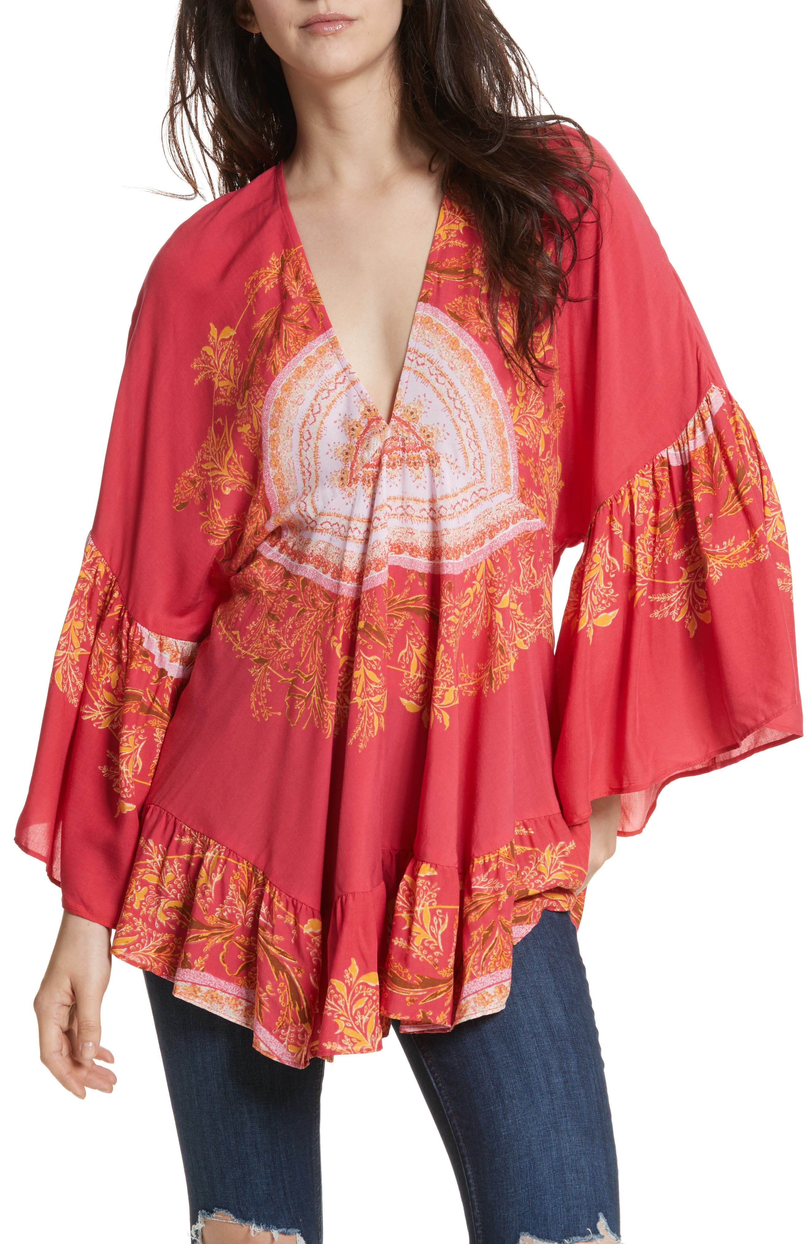 Main Image - Free People Sunset Dreams Ruffle Top