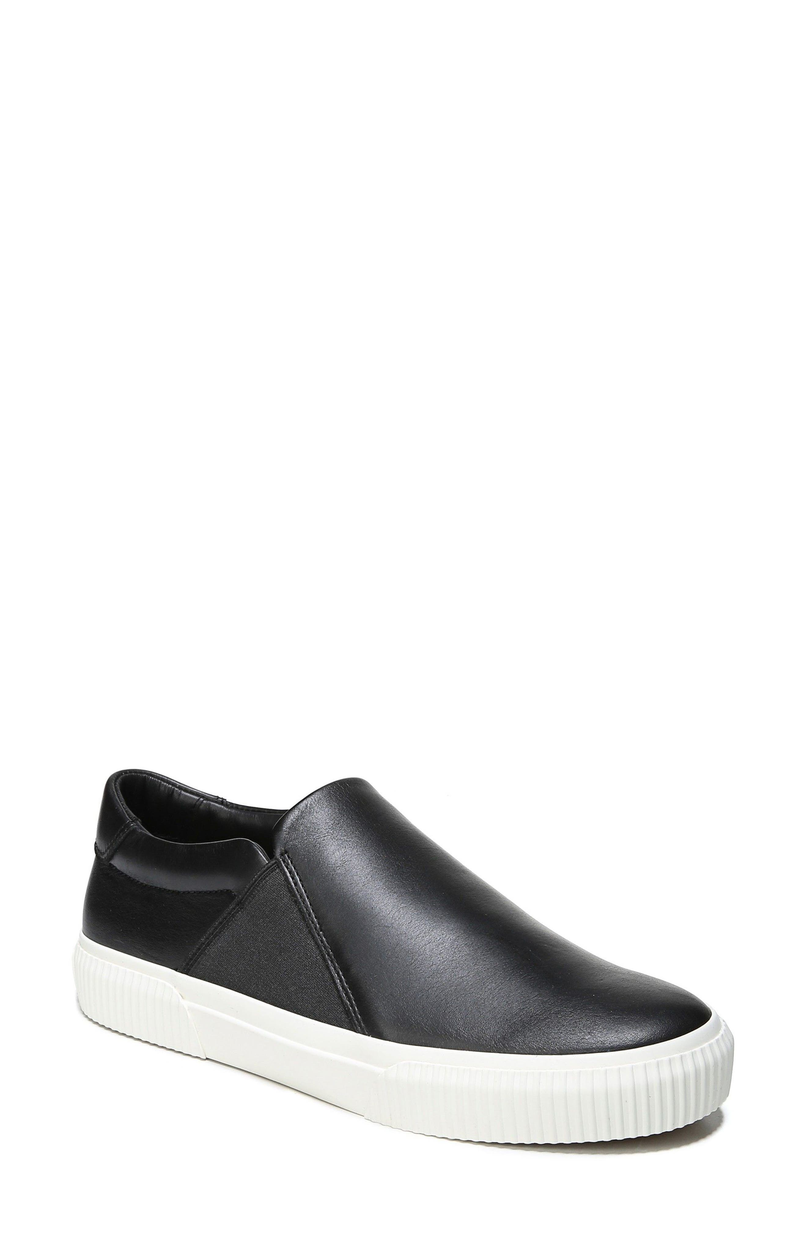 Knox Slip-On Sneaker,                             Main thumbnail 1, color,                             Black Leather