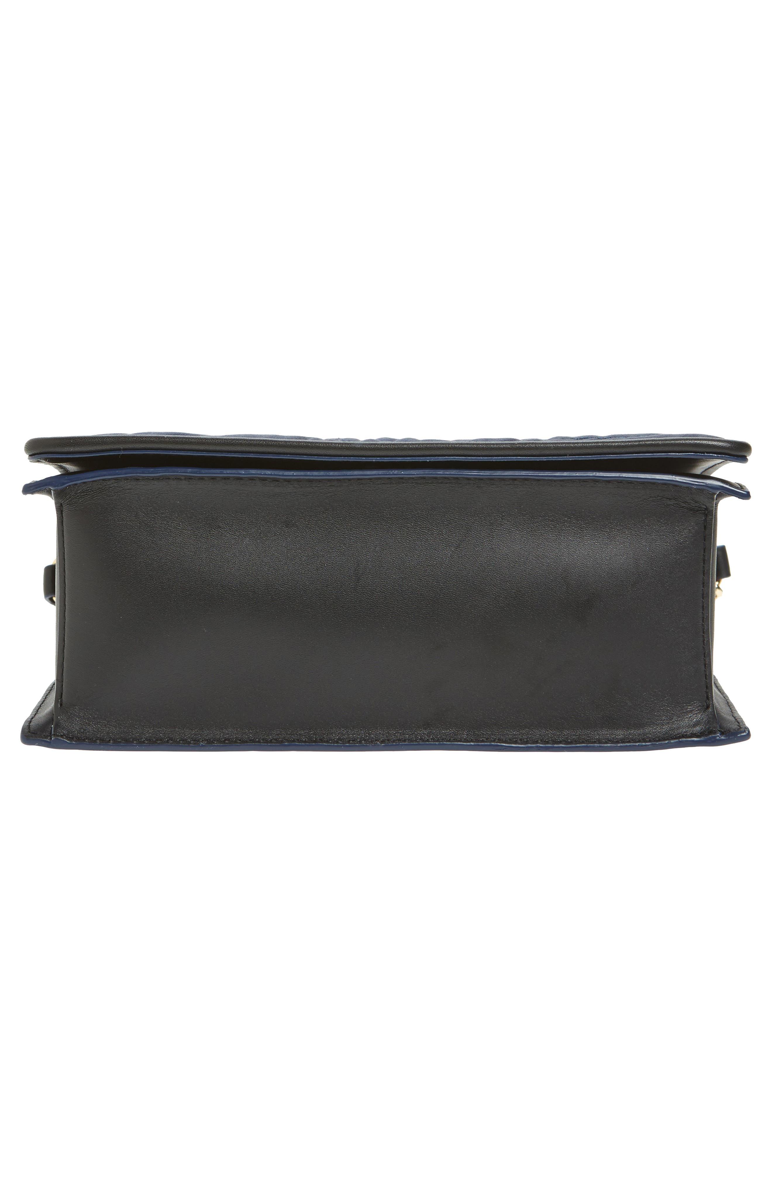 Bonne Soirée Quilted Top Handle Bag,                             Alternate thumbnail 6, color,                             Navy