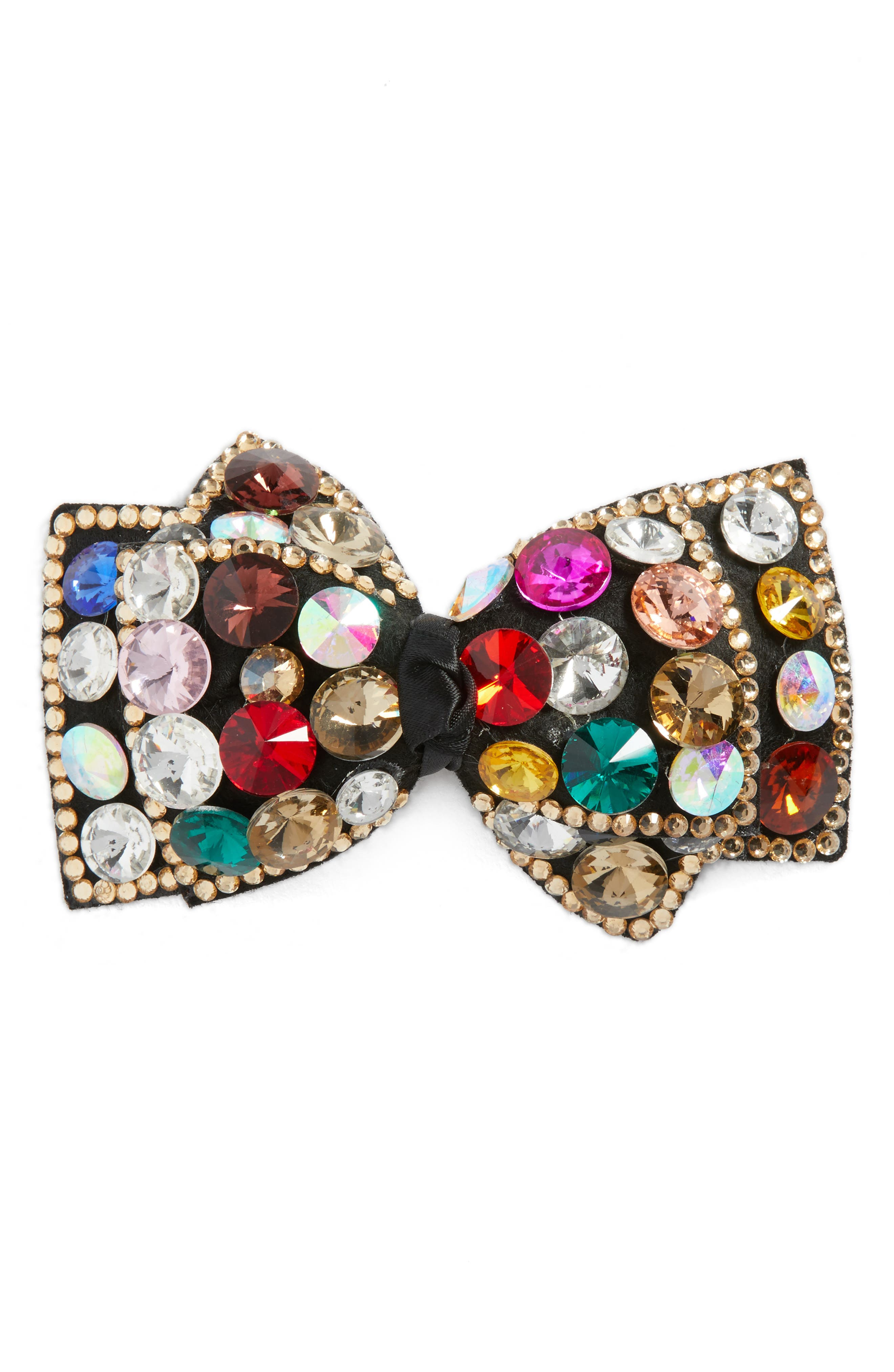 Bling Me Out Crystal Bow Barrette,                             Main thumbnail 1, color,                             Multi