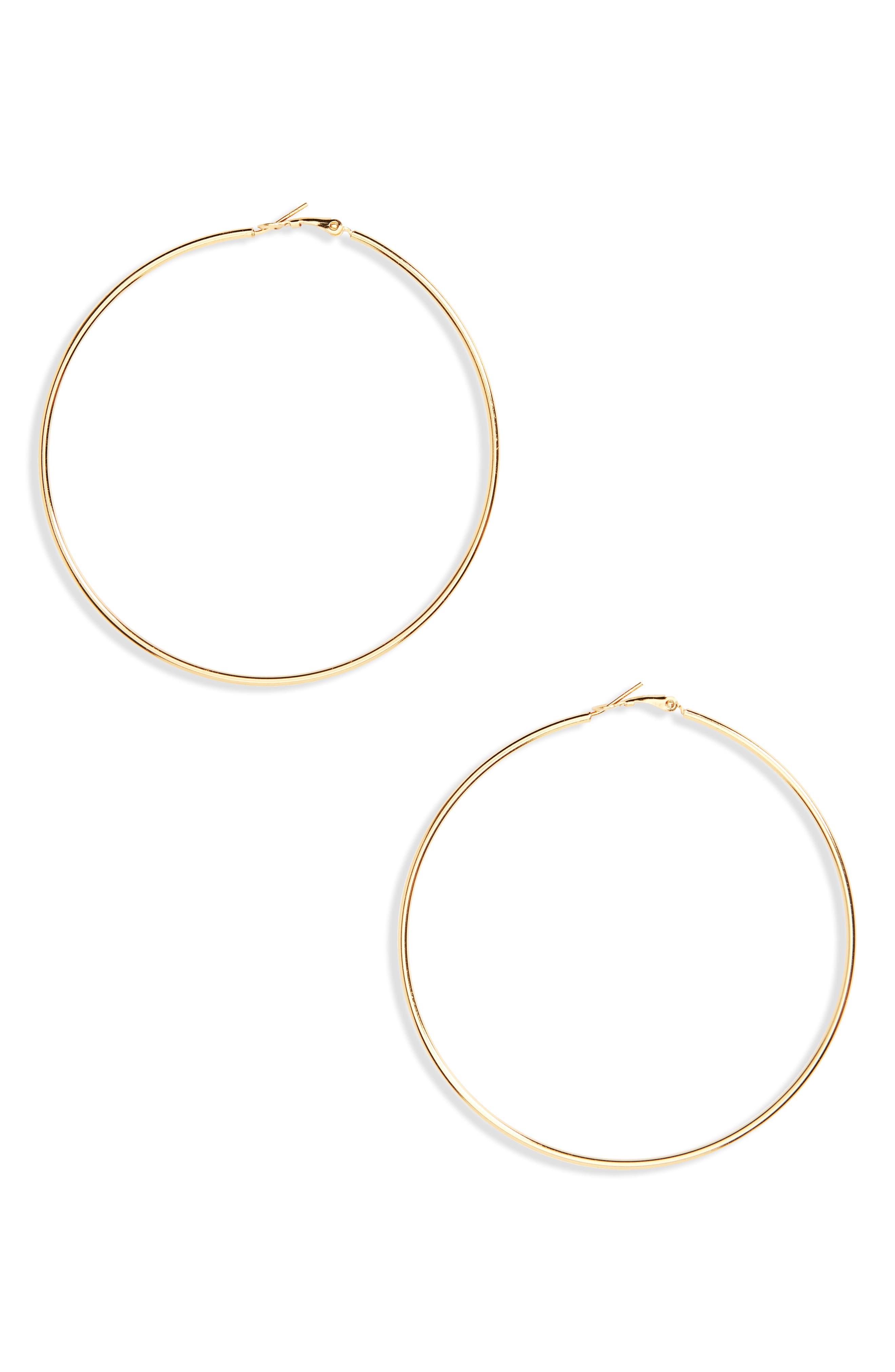Hoop Earrings,                             Main thumbnail 1, color,                             Gold