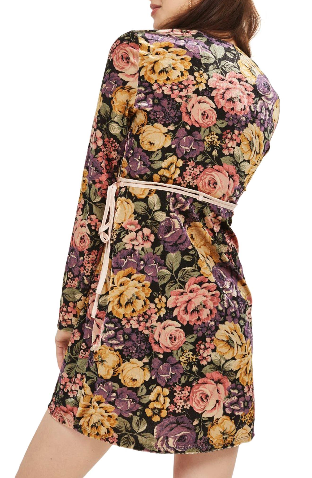 Alternate Image 2  - Topshop Plunge Floral Wrap Dress