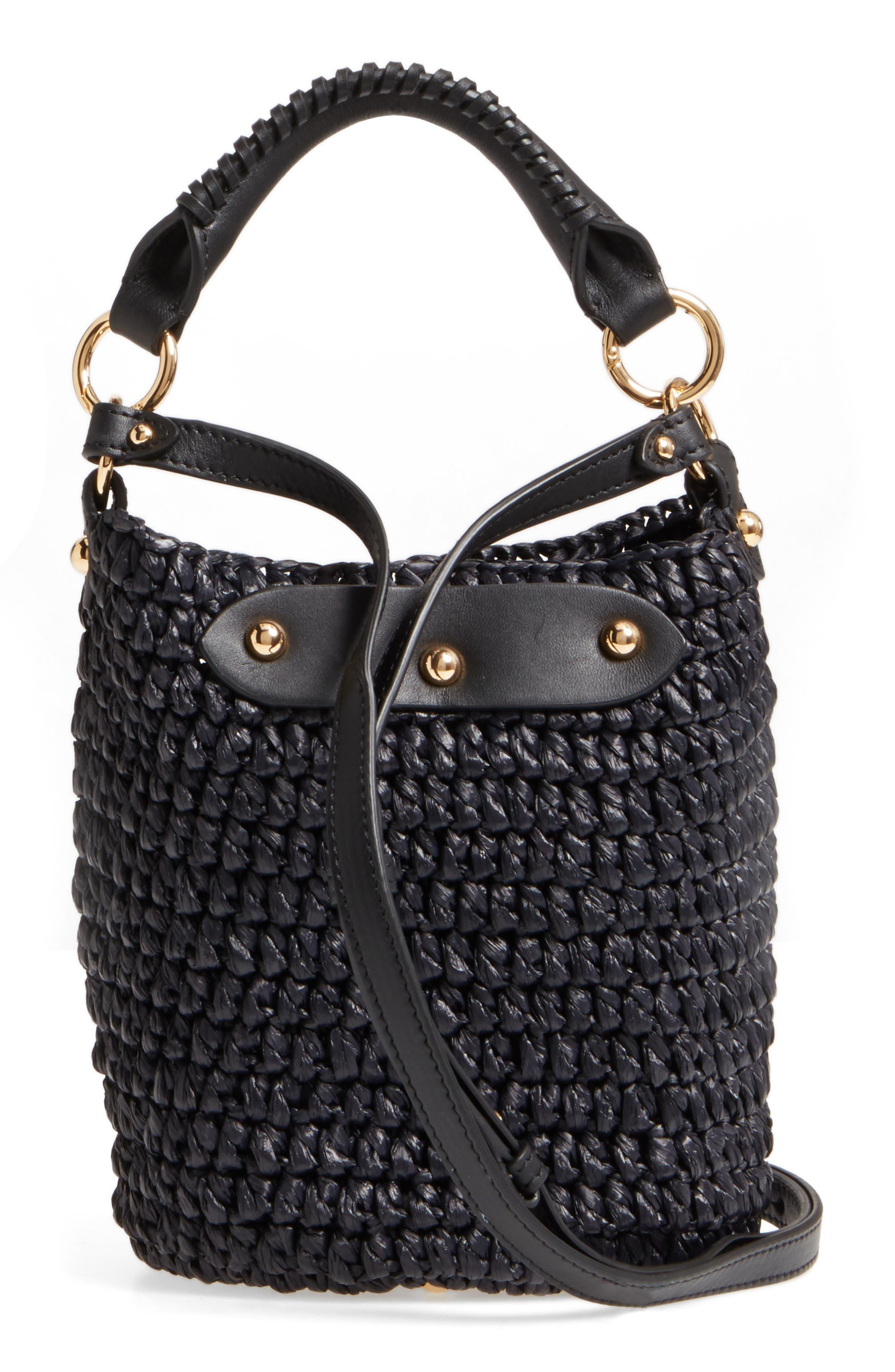 Alternate Image 3  - Diane von Furstenberg Mini Raffia Bucket Bag