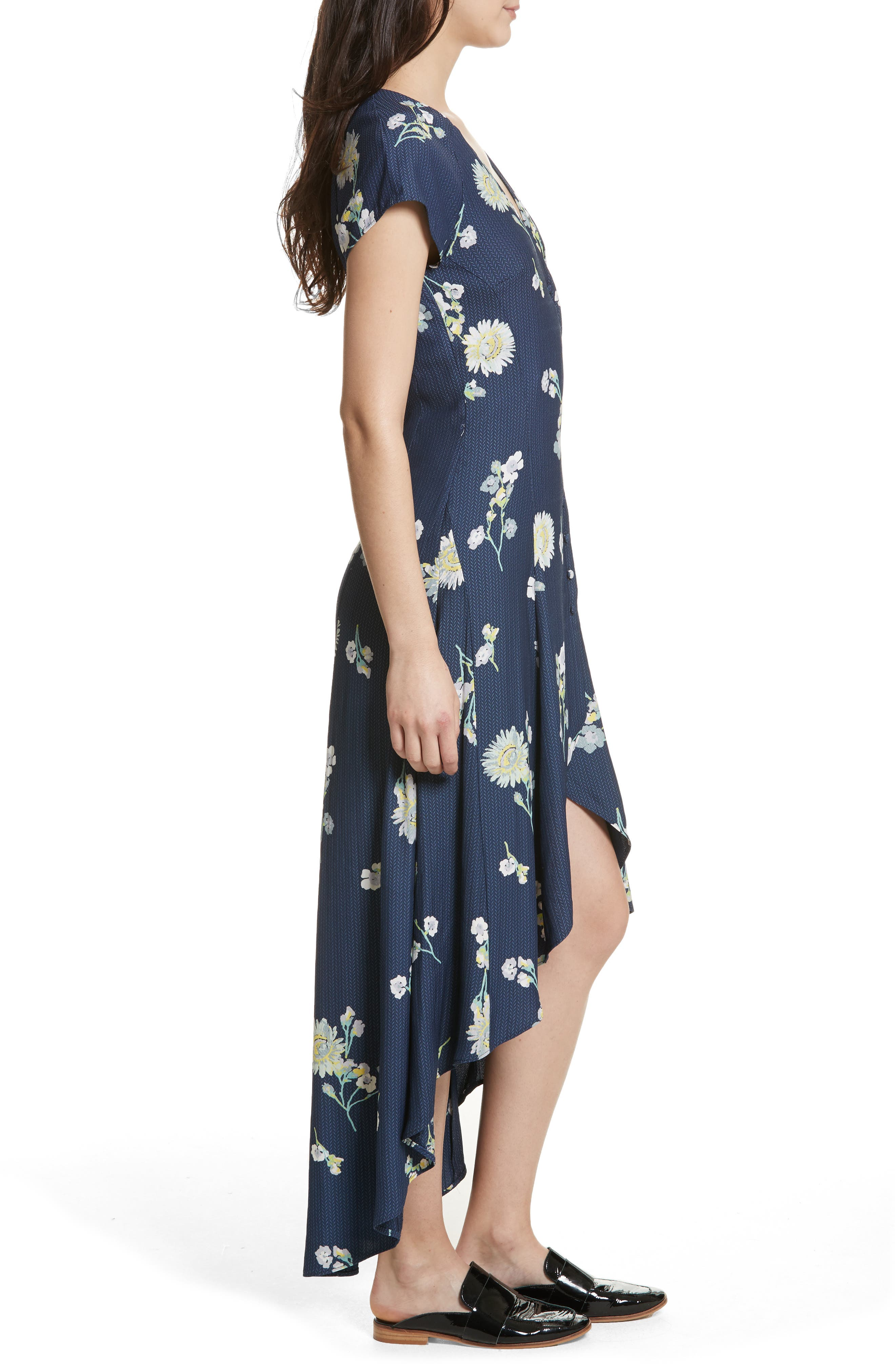 Lost in You Midi Dress,                             Alternate thumbnail 3, color,                             Blue Combo