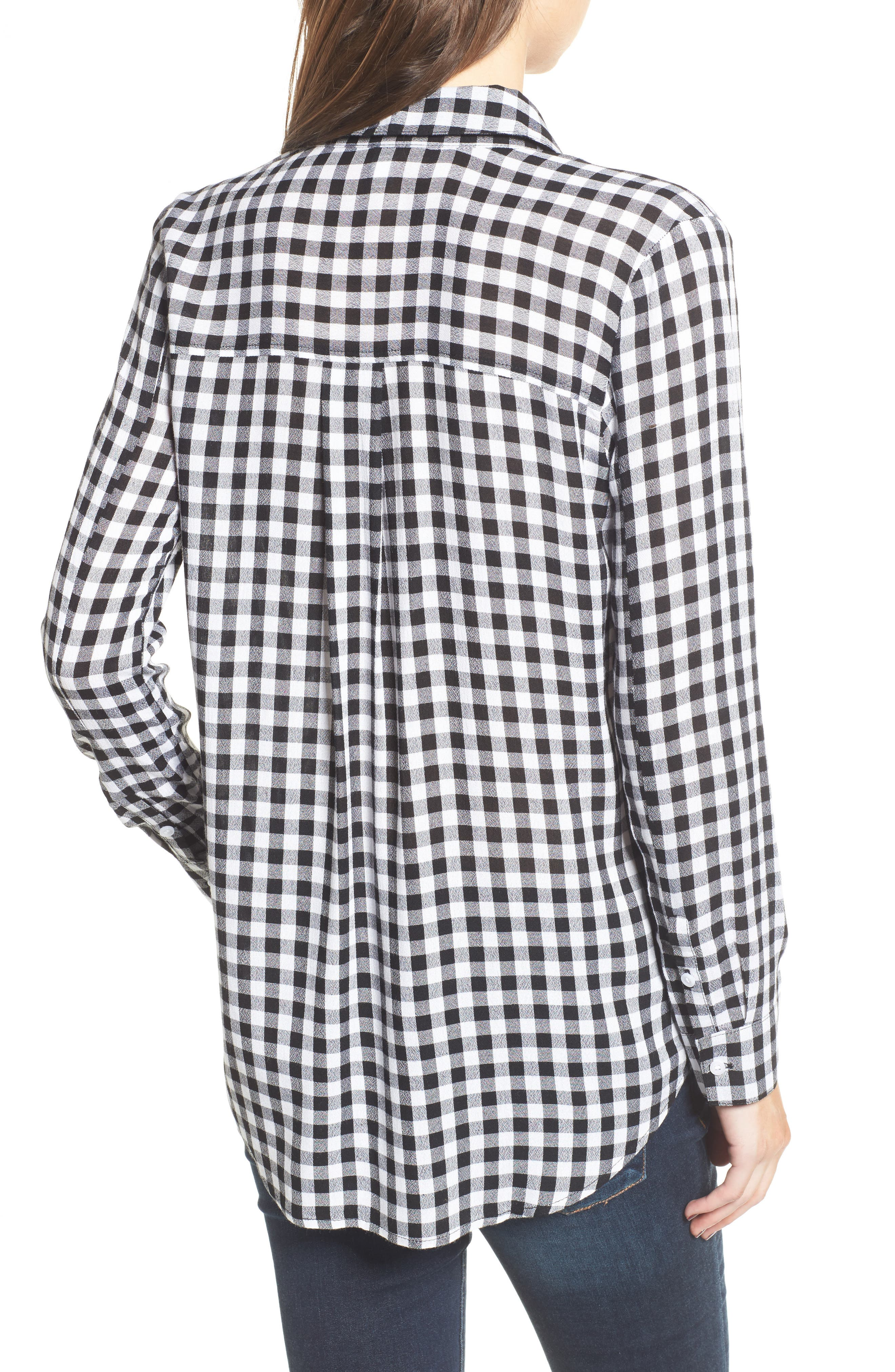 The Perfect Shirt,                             Alternate thumbnail 2, color,                             Black Annete Check