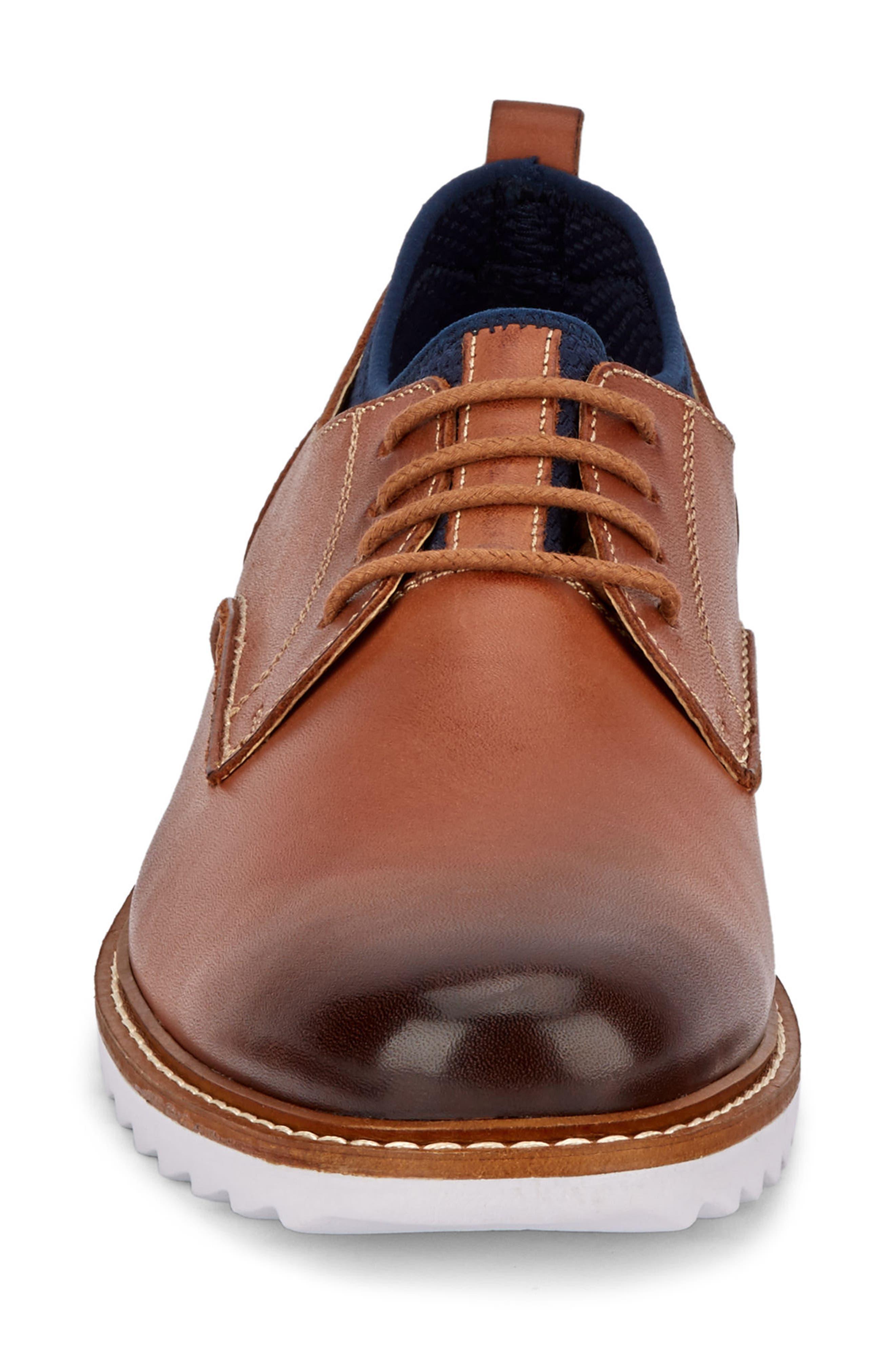 Buck 2.0 Plain Toe Derby,                             Alternate thumbnail 4, color,                             Tan Burnished Leather