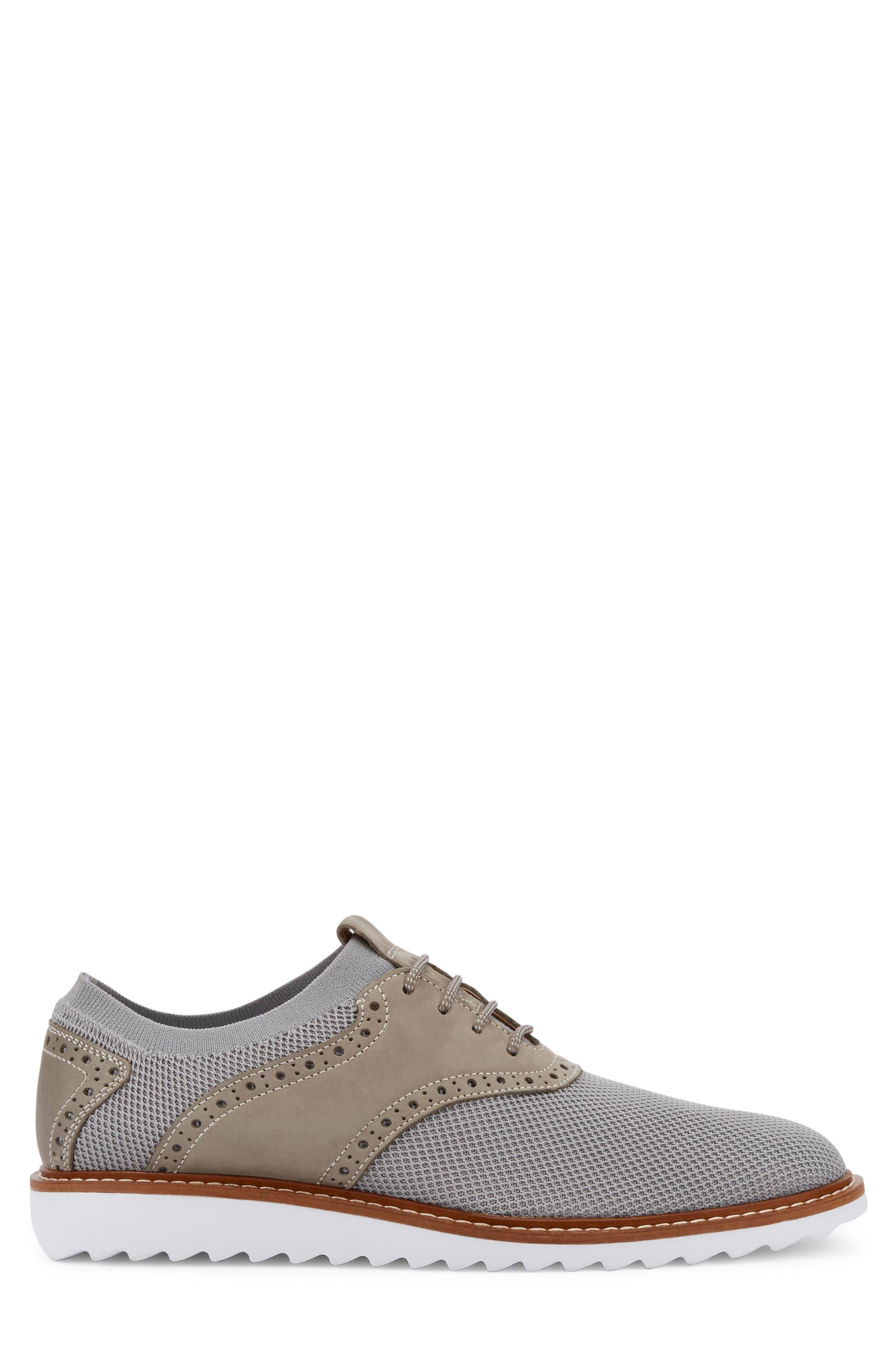 Buck 2.0 Saddle Shoe,                             Alternate thumbnail 3, color,                             Light Grey Knit/ Nubuck