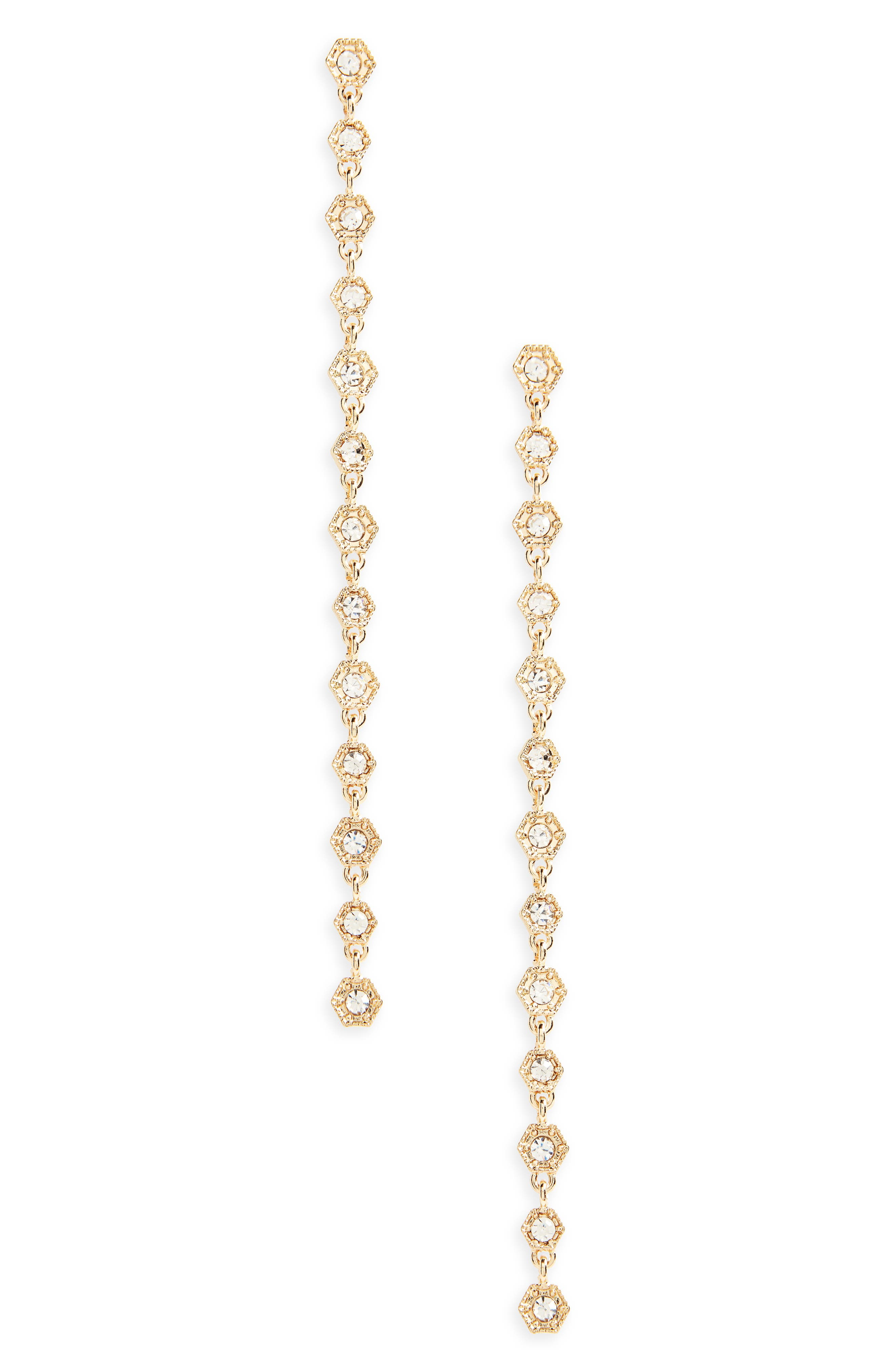 Linear Drop Earrings,                             Main thumbnail 1, color,                             Gold