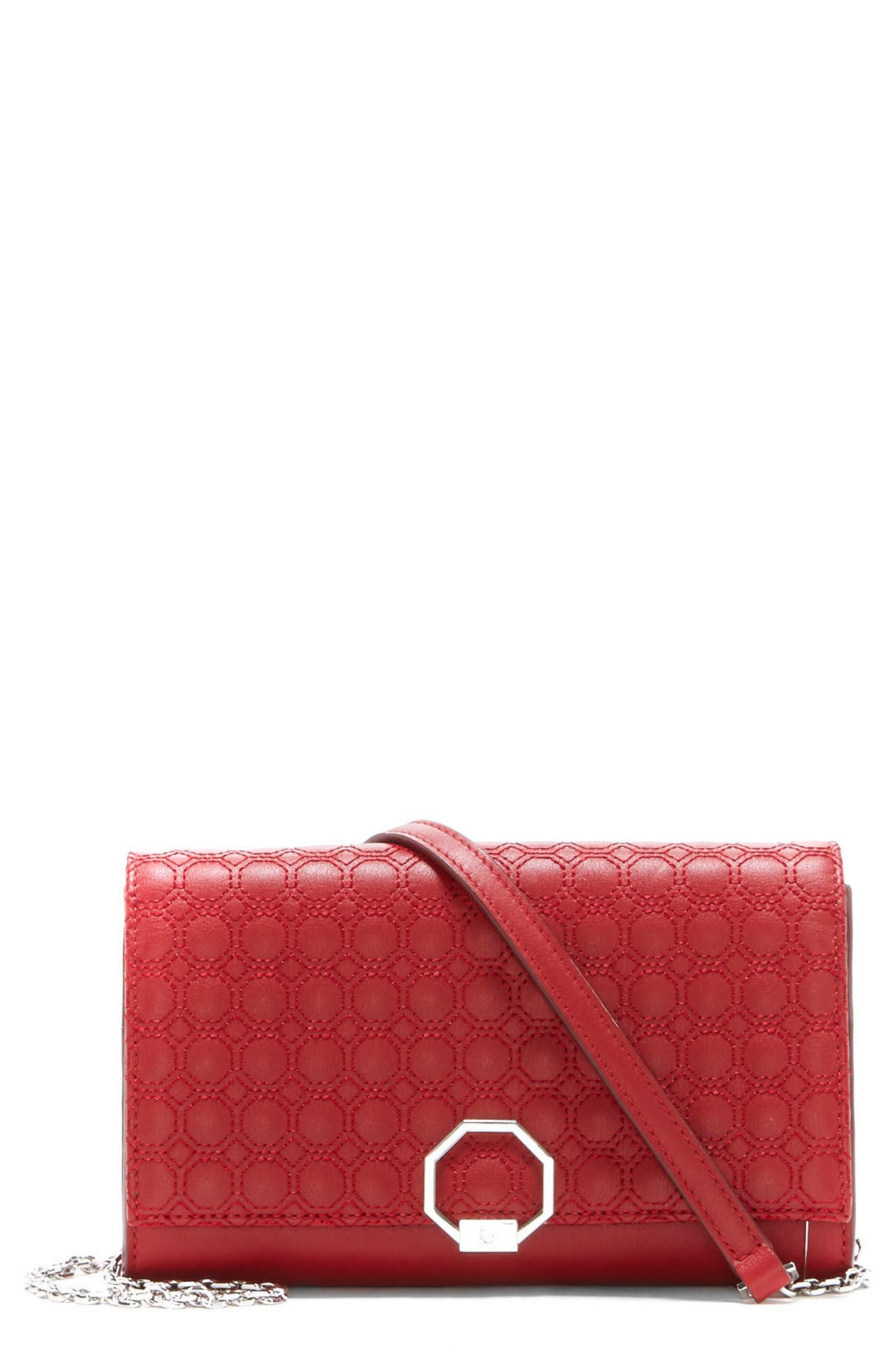 Celya Small Crossbody Bag,                         Main,                         color, Cherry Red
