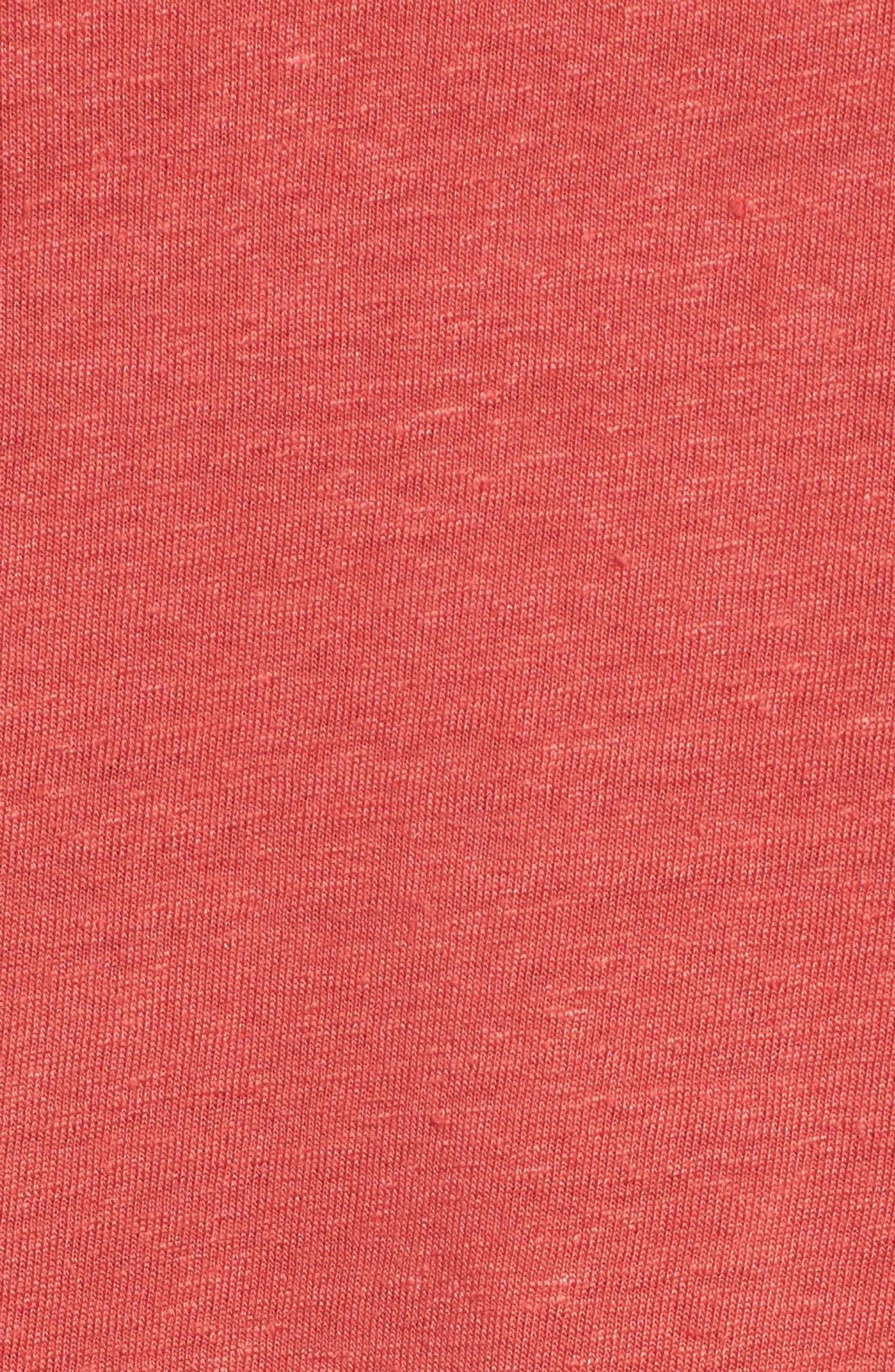 Ruffle Sleeve Tee,                             Alternate thumbnail 4, color,                             Chilli Pepper