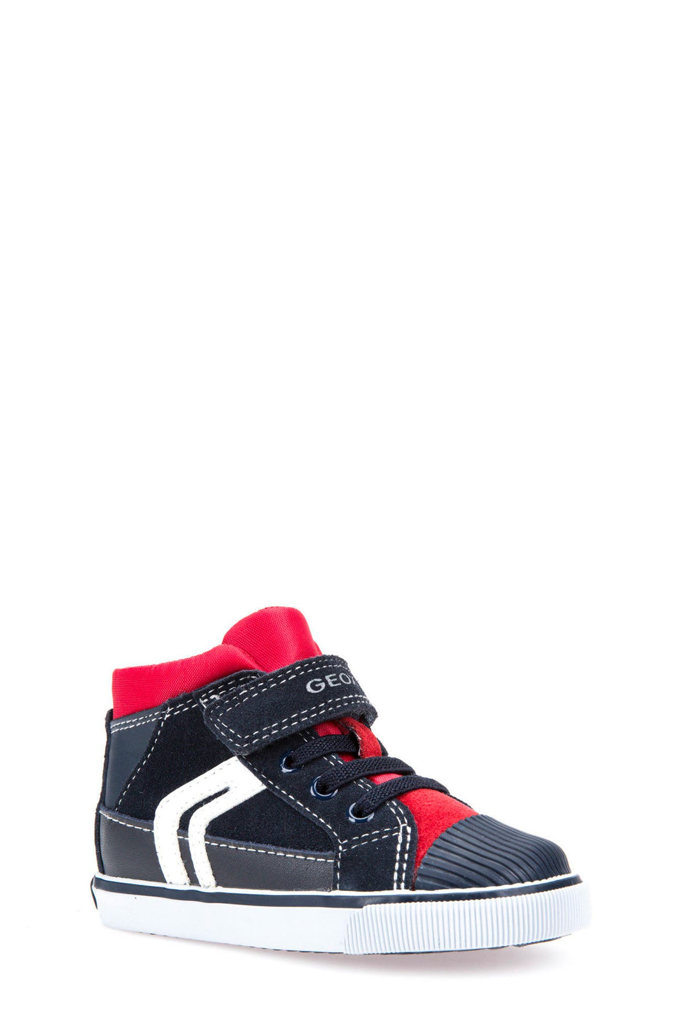 Kiwi Boy High Top Sneaker,                             Main thumbnail 1, color,                             Navy/ Red